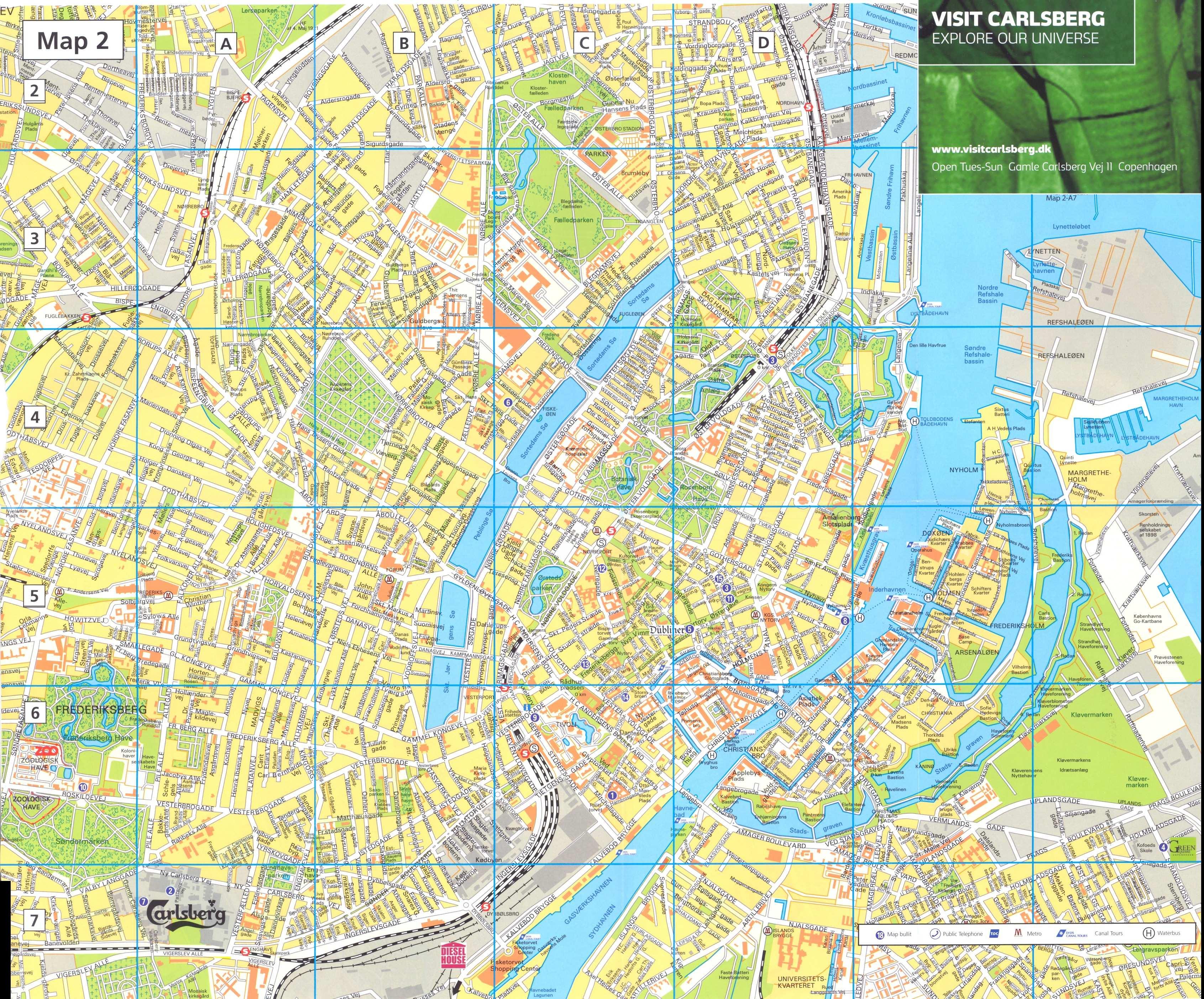 copenhaga mapa Large Copenhagen Maps for Free Download and Print | High  copenhaga mapa