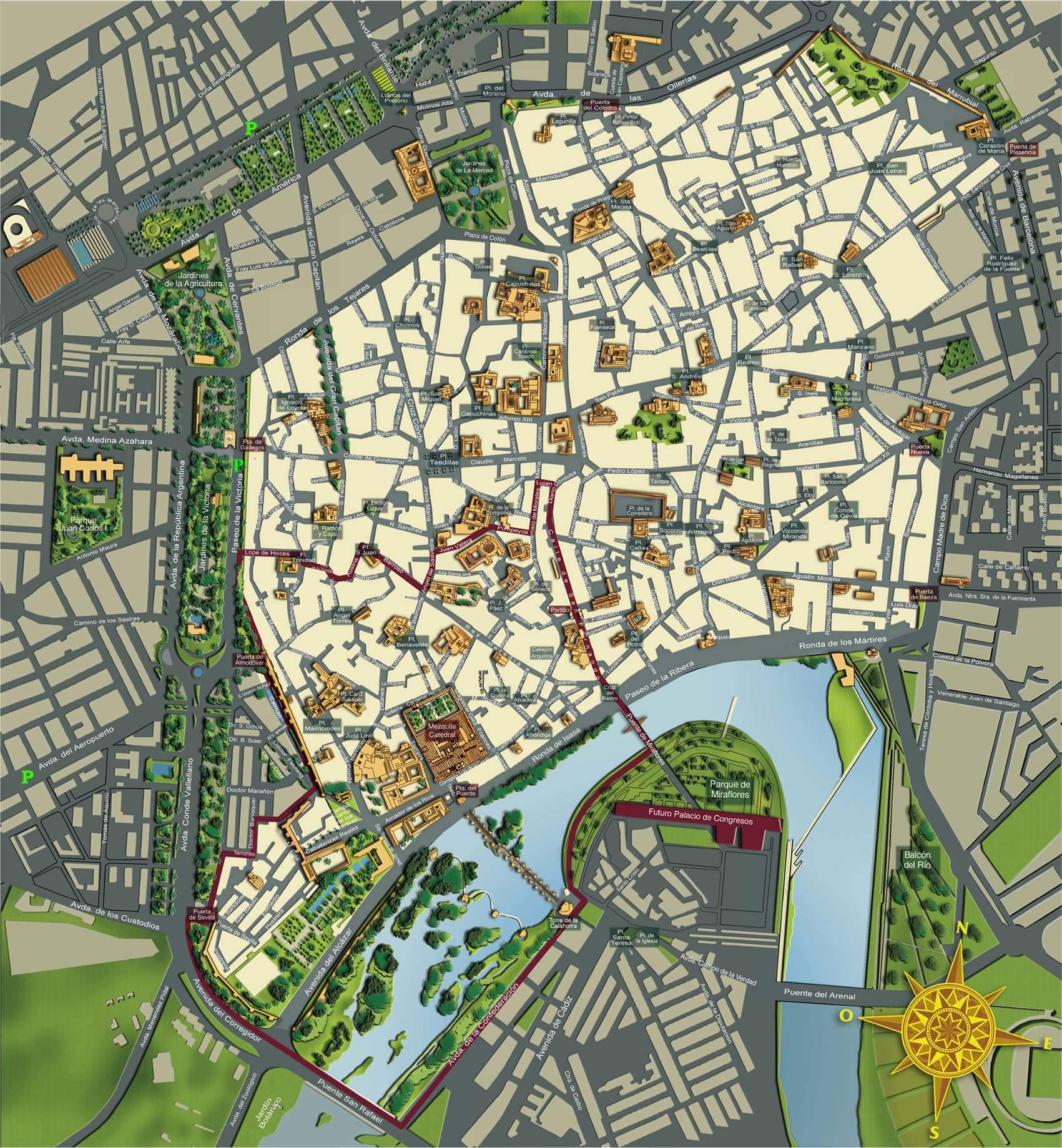 Mapa Callejero De Cordoba.Mapas Detallados De Cordoba Para Descargar Gratis E Imprimir