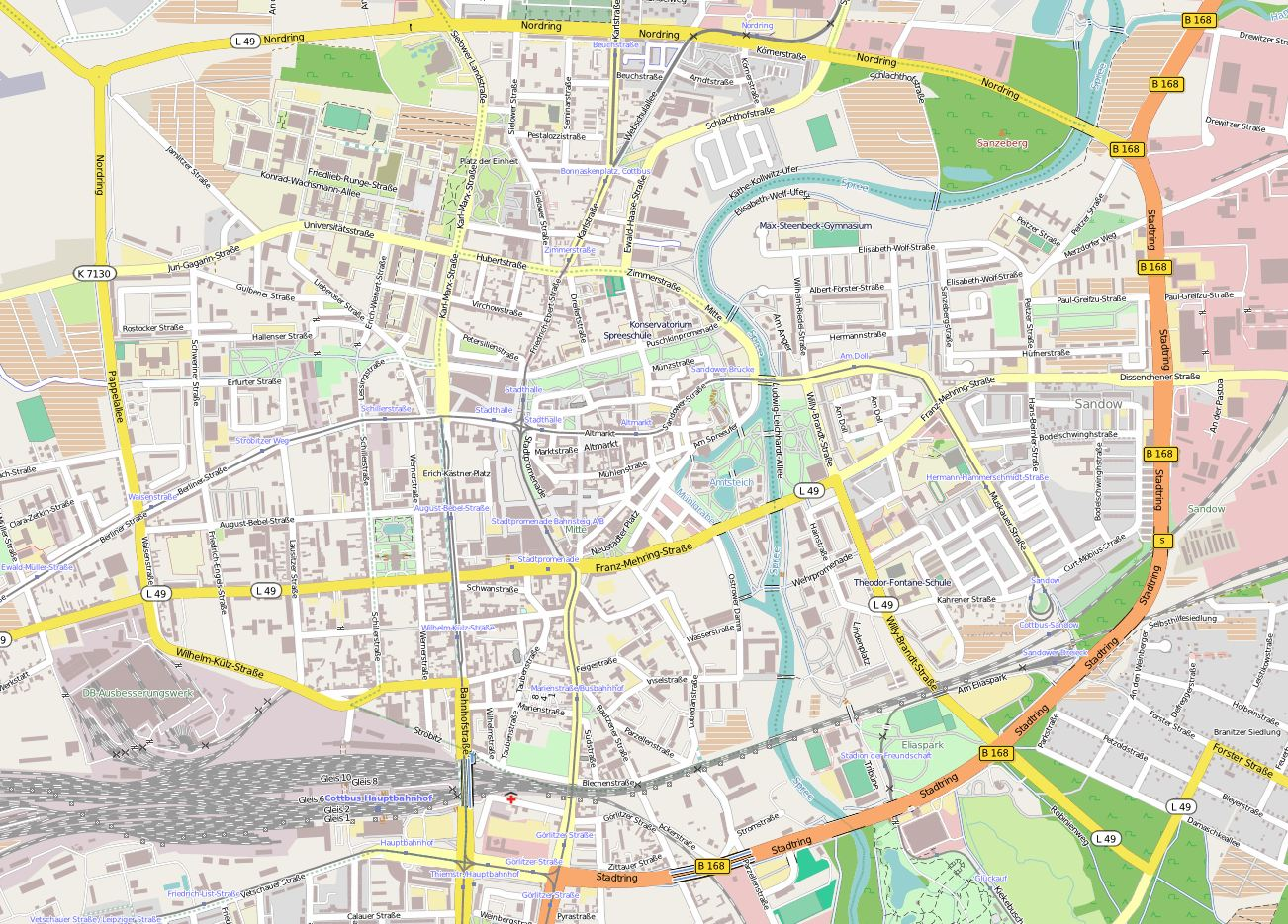 Large Cottbus Maps for Free Download and Print HighResolution and