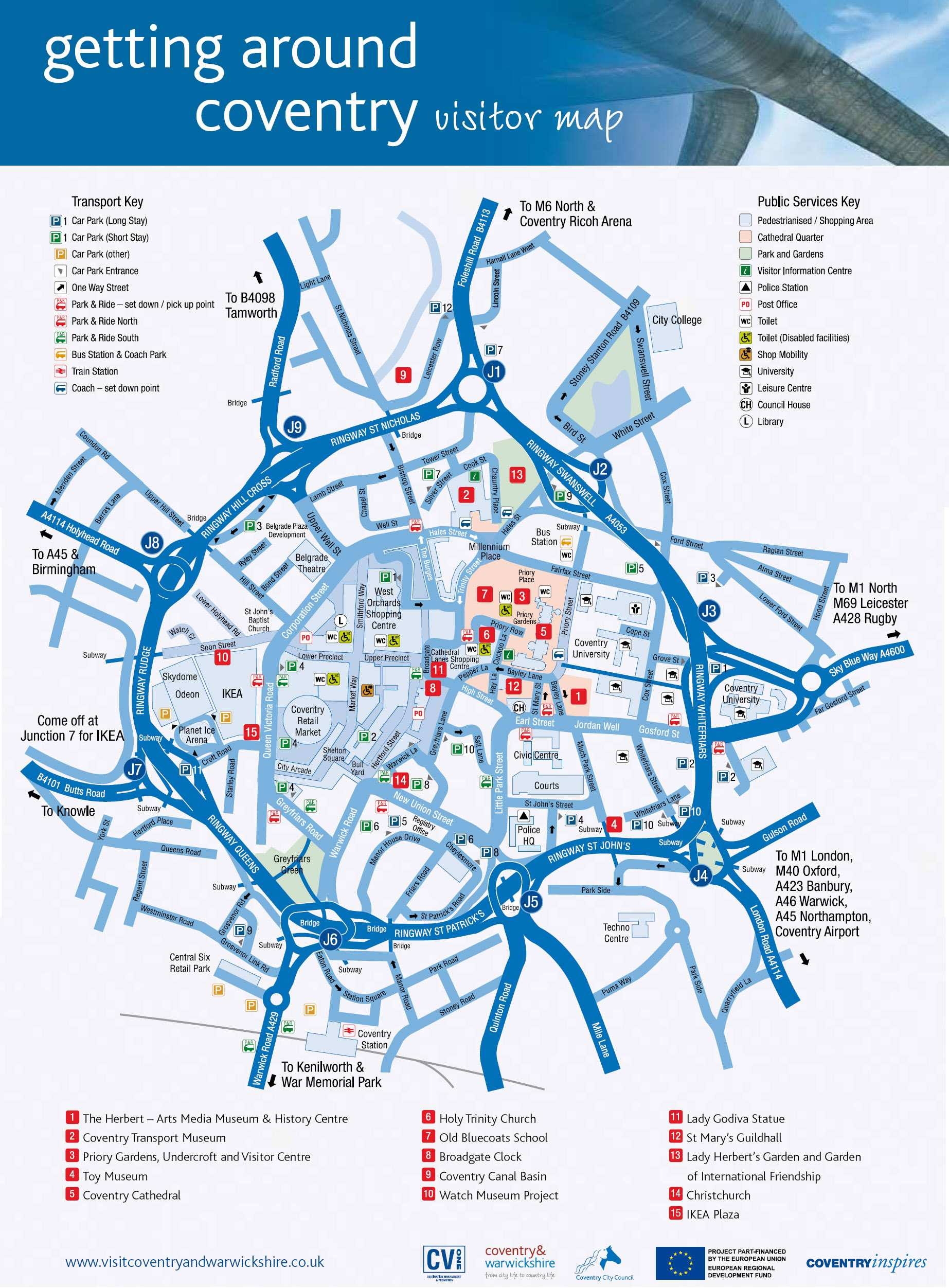 Coventry plan de la ciudad mapas imprimidos de for Coventry plan