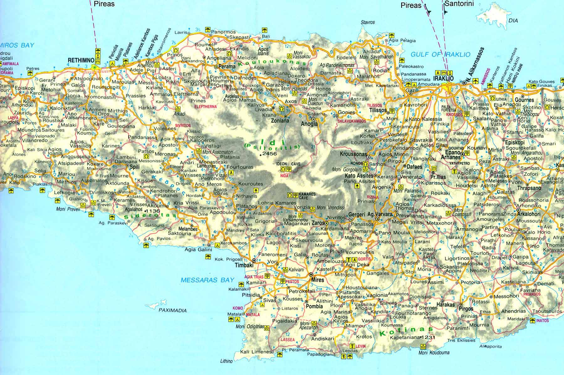 Large Crete Maps for Free Download and Print | High