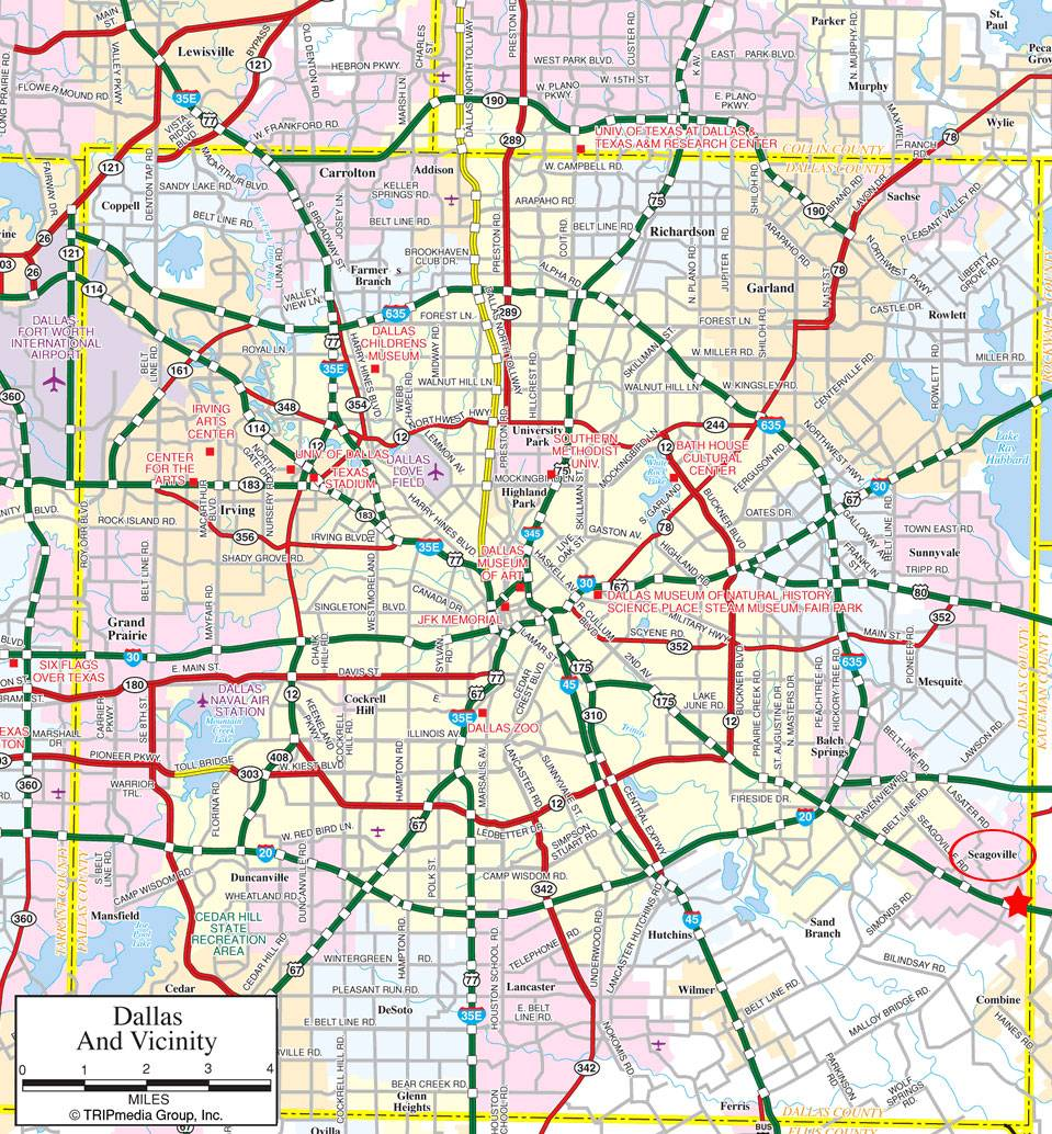 graphic relating to Printable Texas County Map named Enormous Dallas Maps for No cost Obtain and Print Superior