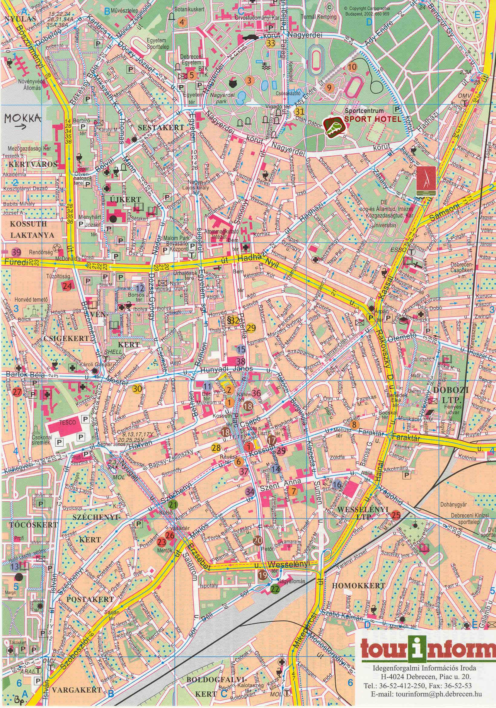 Large Debrecen Maps for Free Download and Print | High
