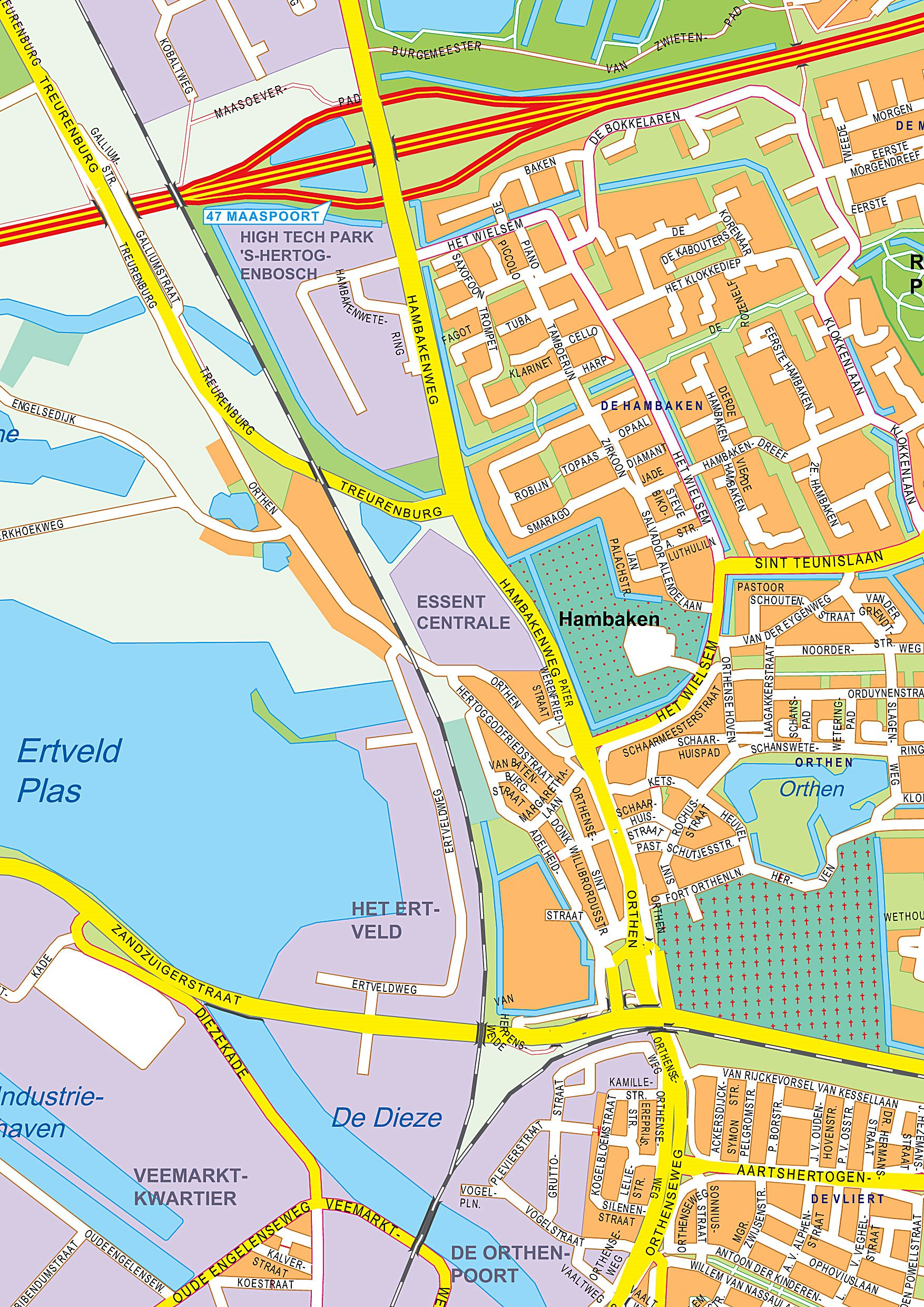 Large Den Bosch Maps for Free Download and Print | High ...