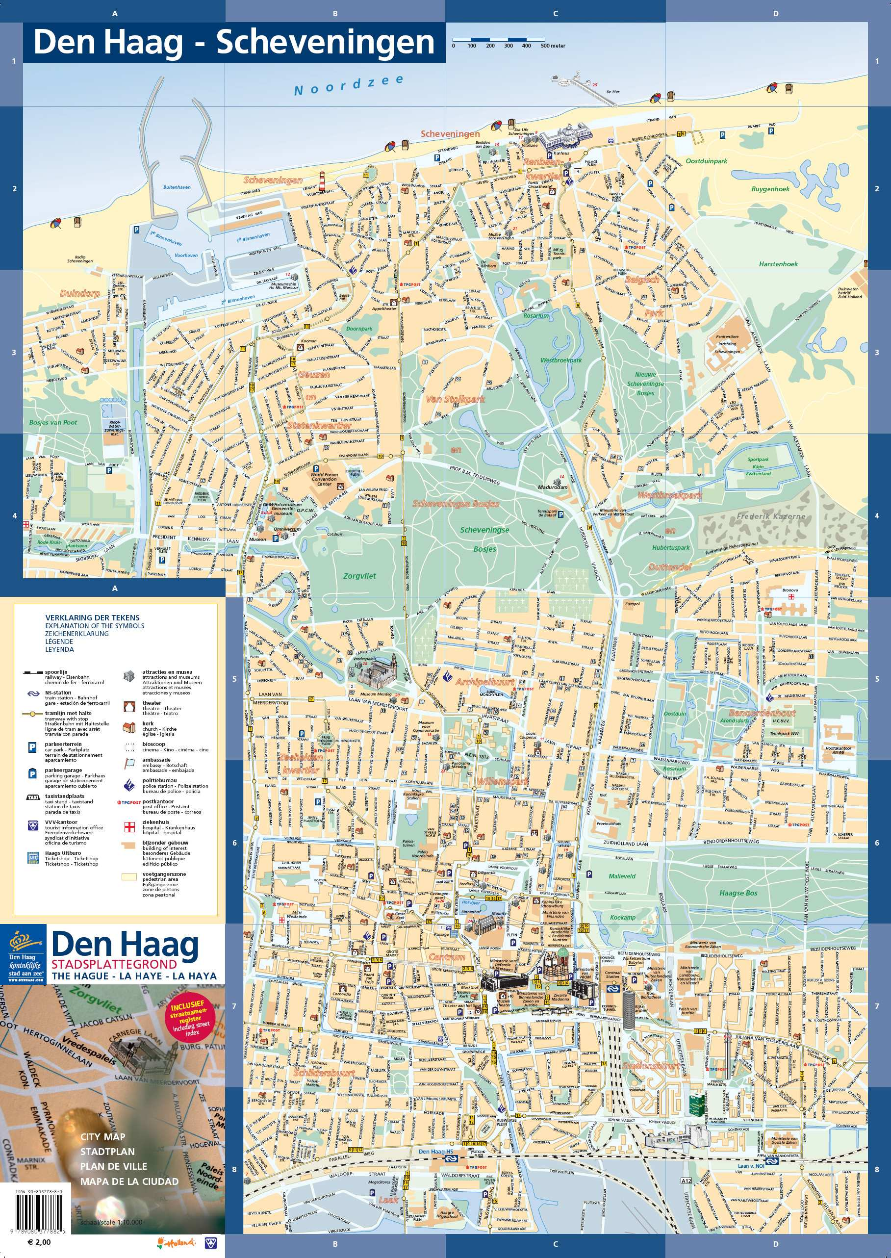 The Hague Tourist Map Large The Hague Maps for Free Download and Print | High Resolution