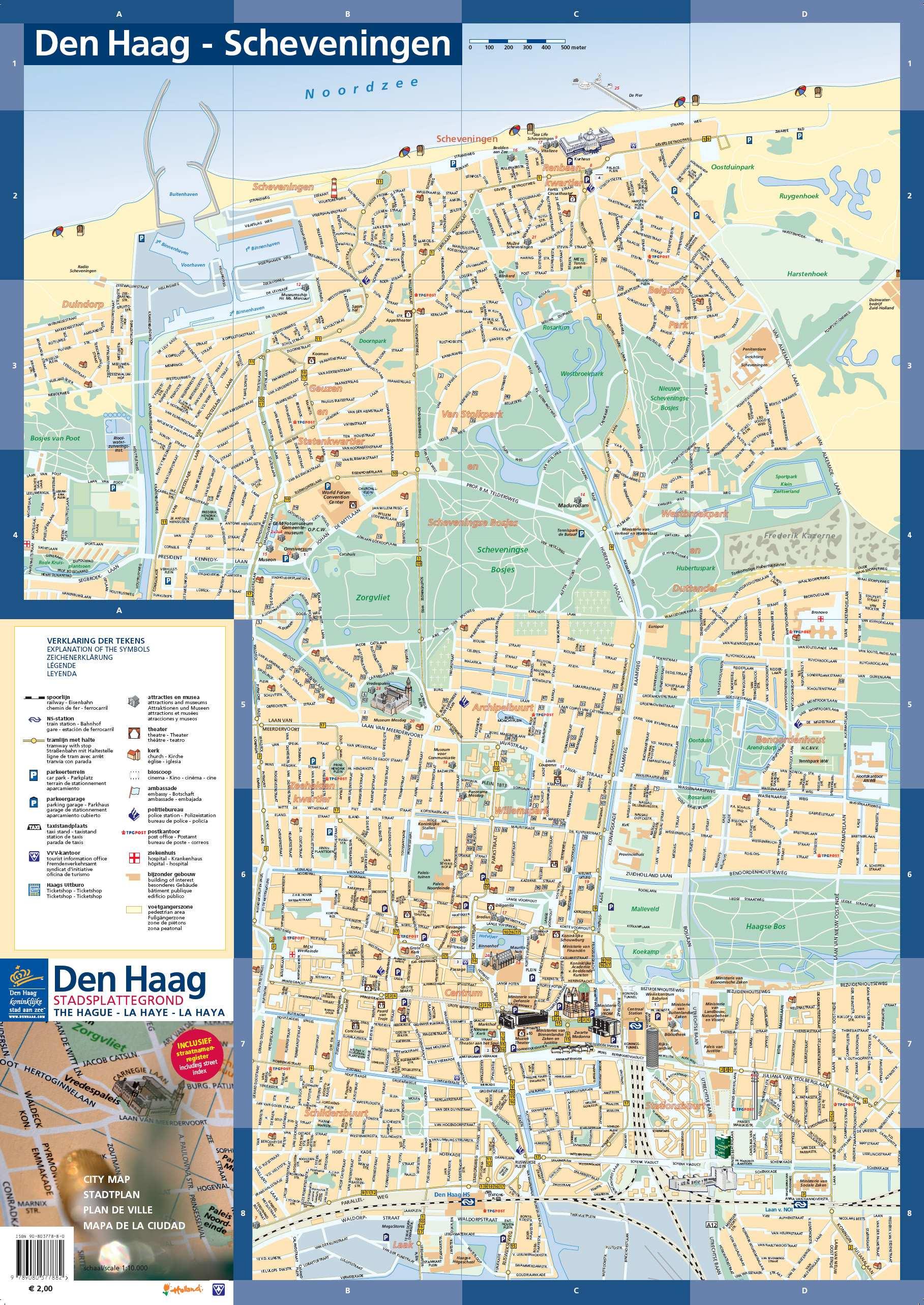 den haag karte Stadtplan von Den Haag | Detaillierte gedruckte Karten von Den  den haag karte