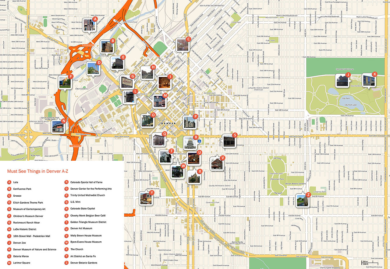 Large Denver Maps For Free Download And Print High