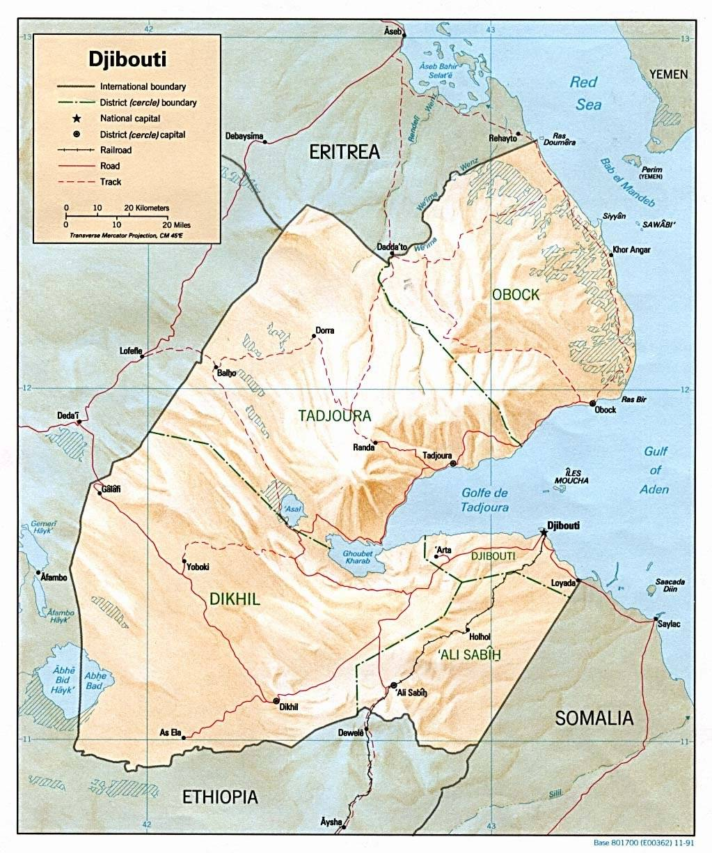 Large Djibouti City Maps for Free Download and Print | High ... on