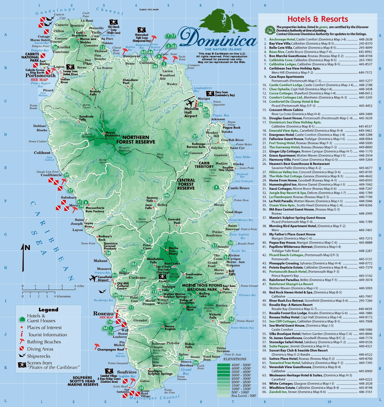 large dominica island maps for free download and print high