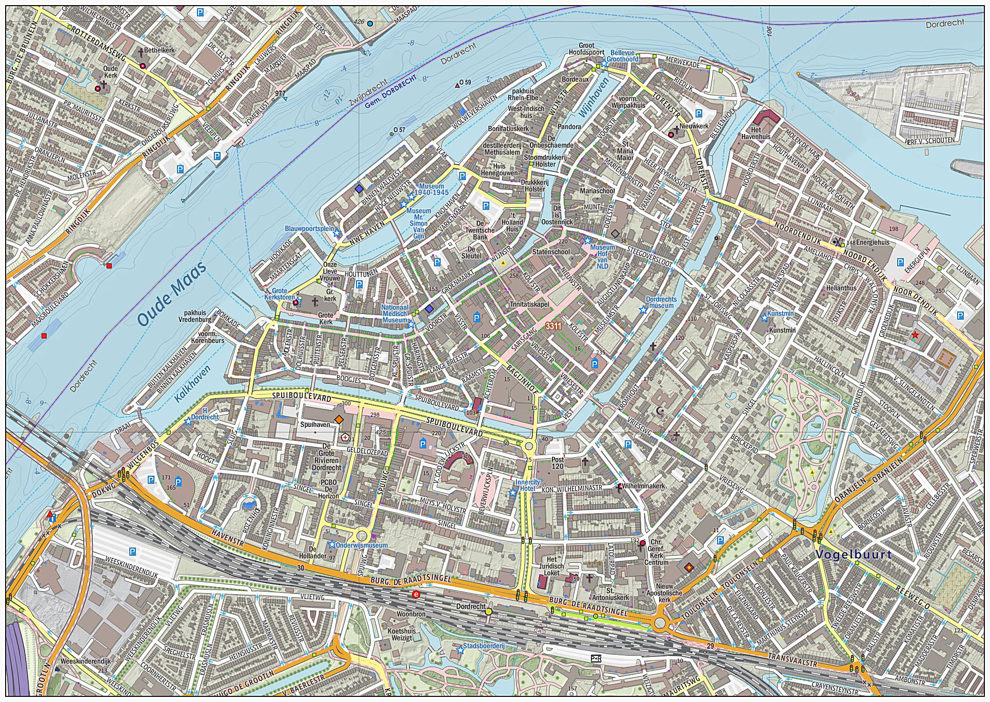 Large Dordrecht Maps for Free Download and Print HighResolution
