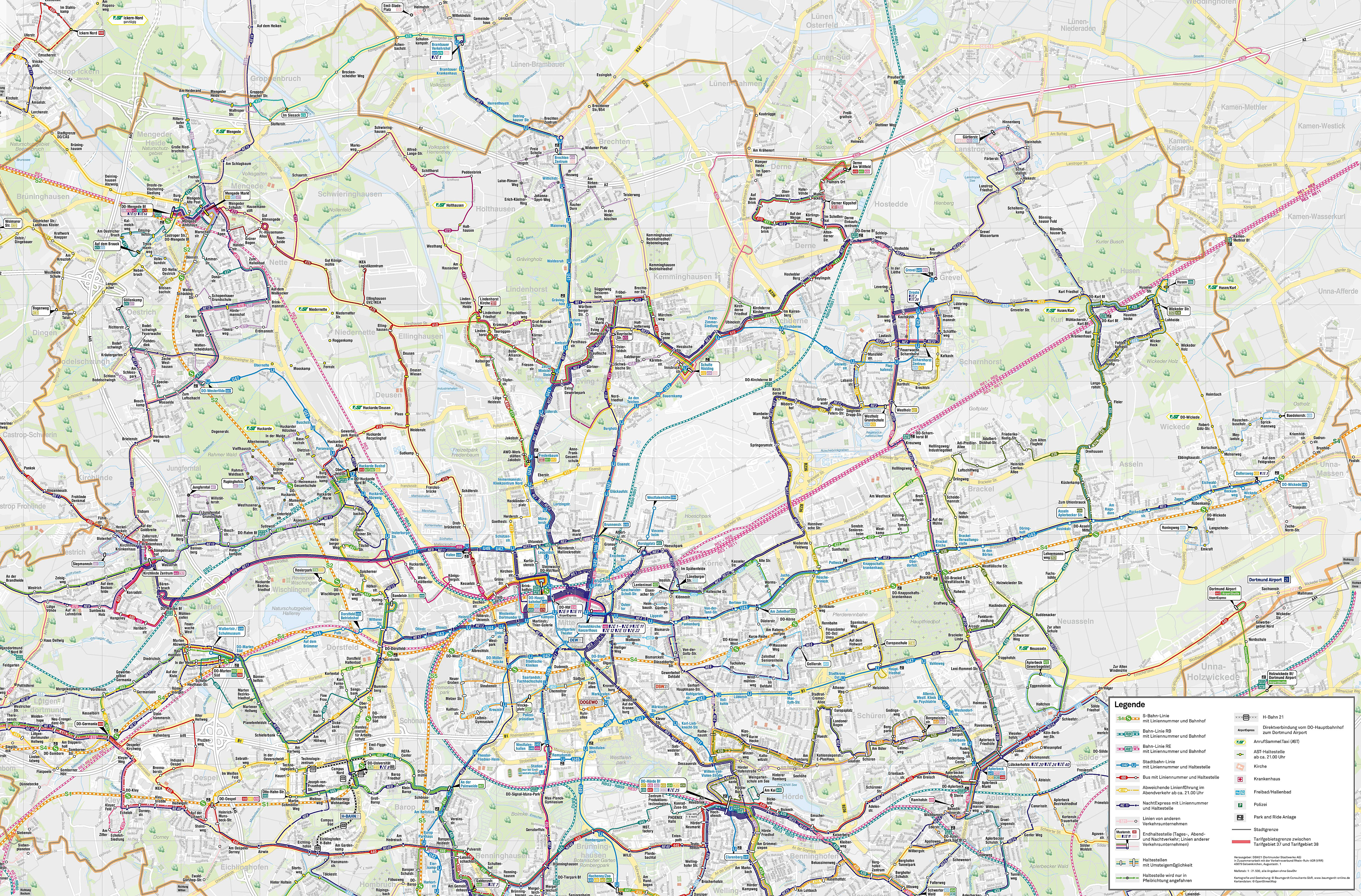 Large Dortmund Maps For Free Download And Print High Resolution