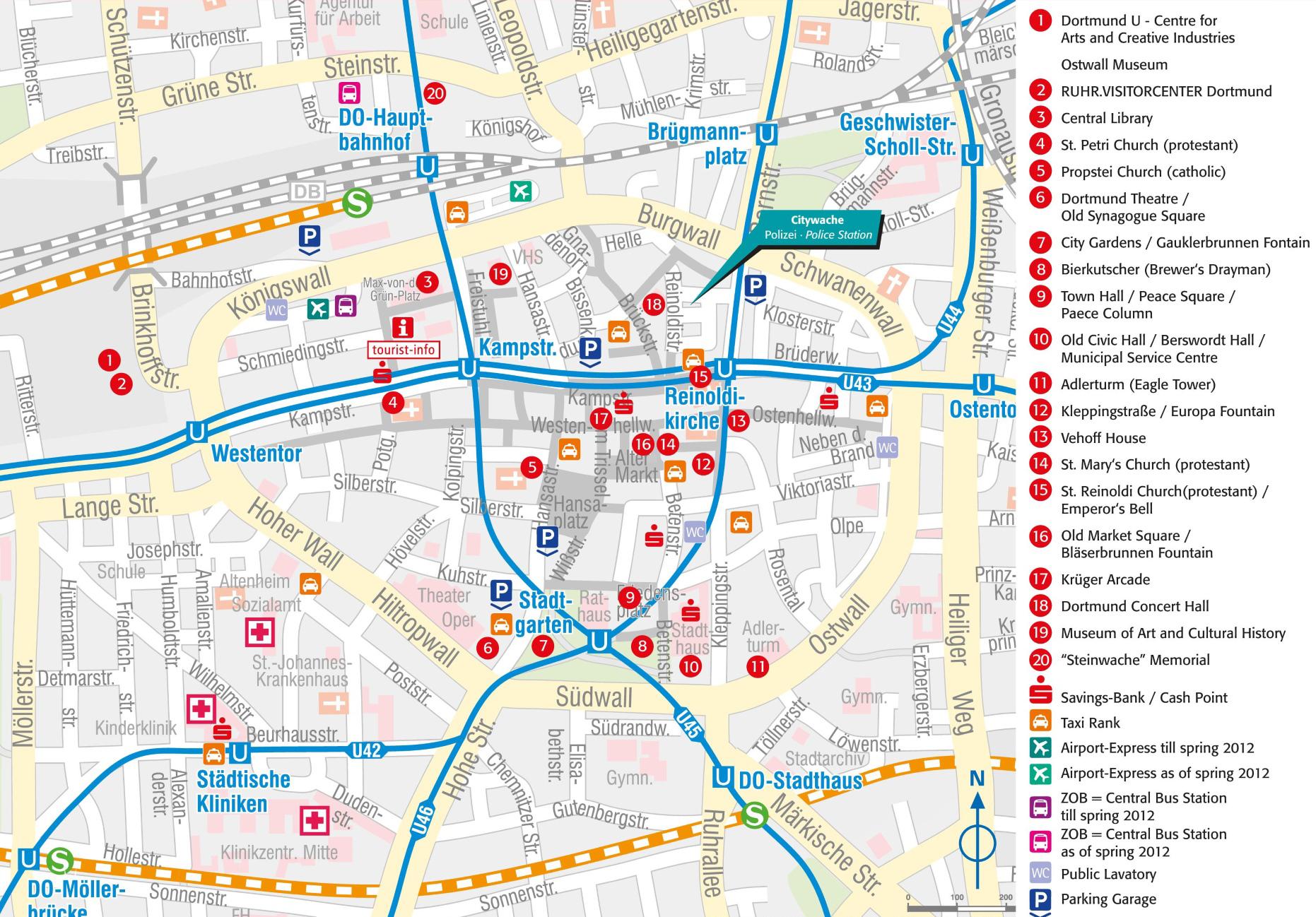 dortmund mapa Large Dortmund Maps for Free Download and Print | High Resolution  dortmund mapa