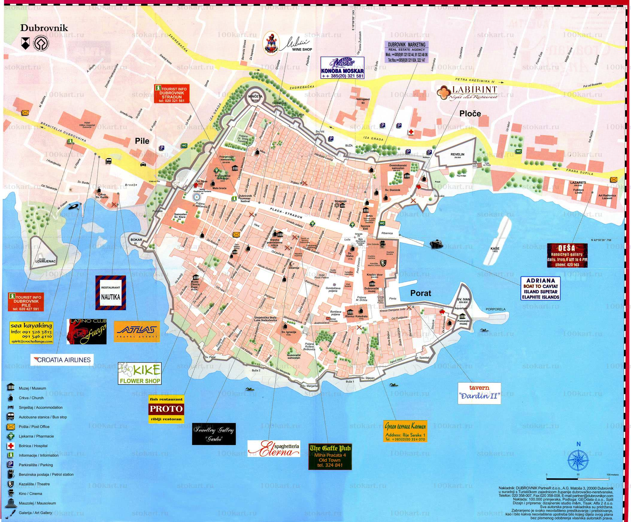 Map Of Dubrovnik Large Dubrovnik Maps for Free Download and Print | High Resolution