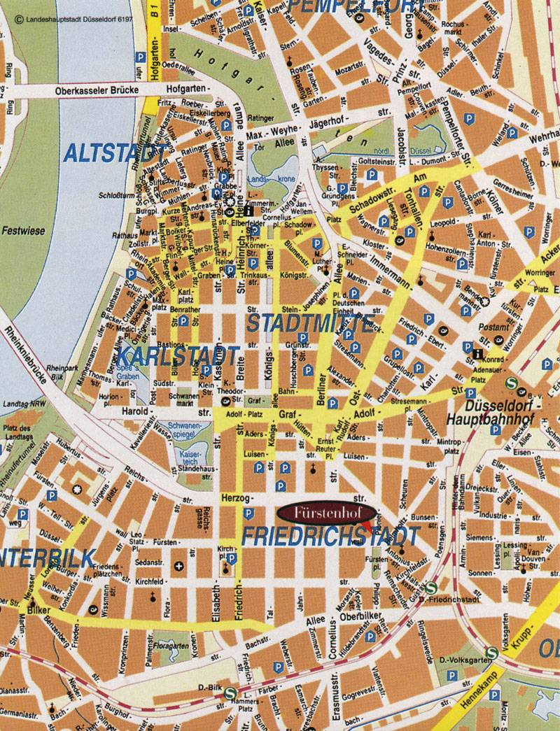 large map of dusseldorf 1