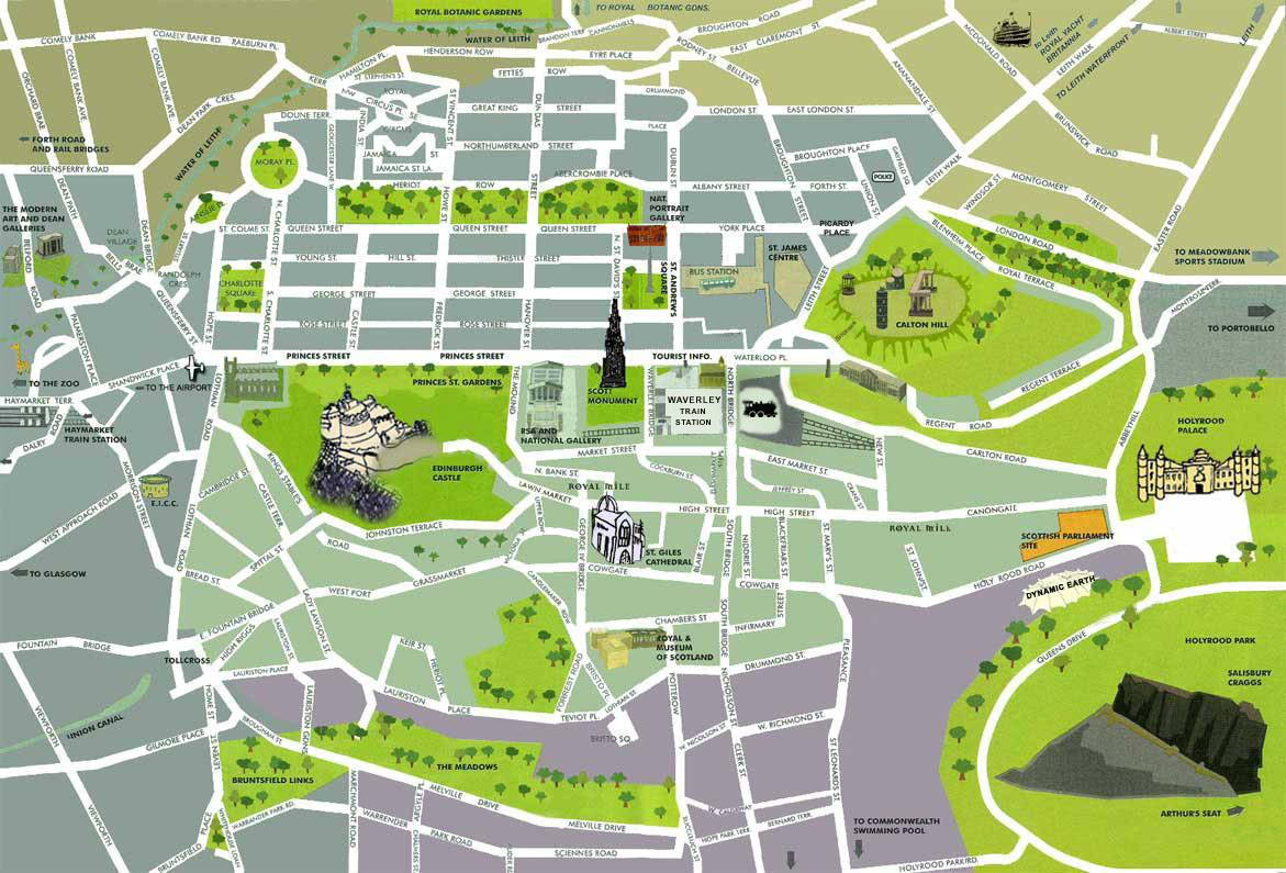 Large Edinburgh Maps for Free Download and Print HighResolution