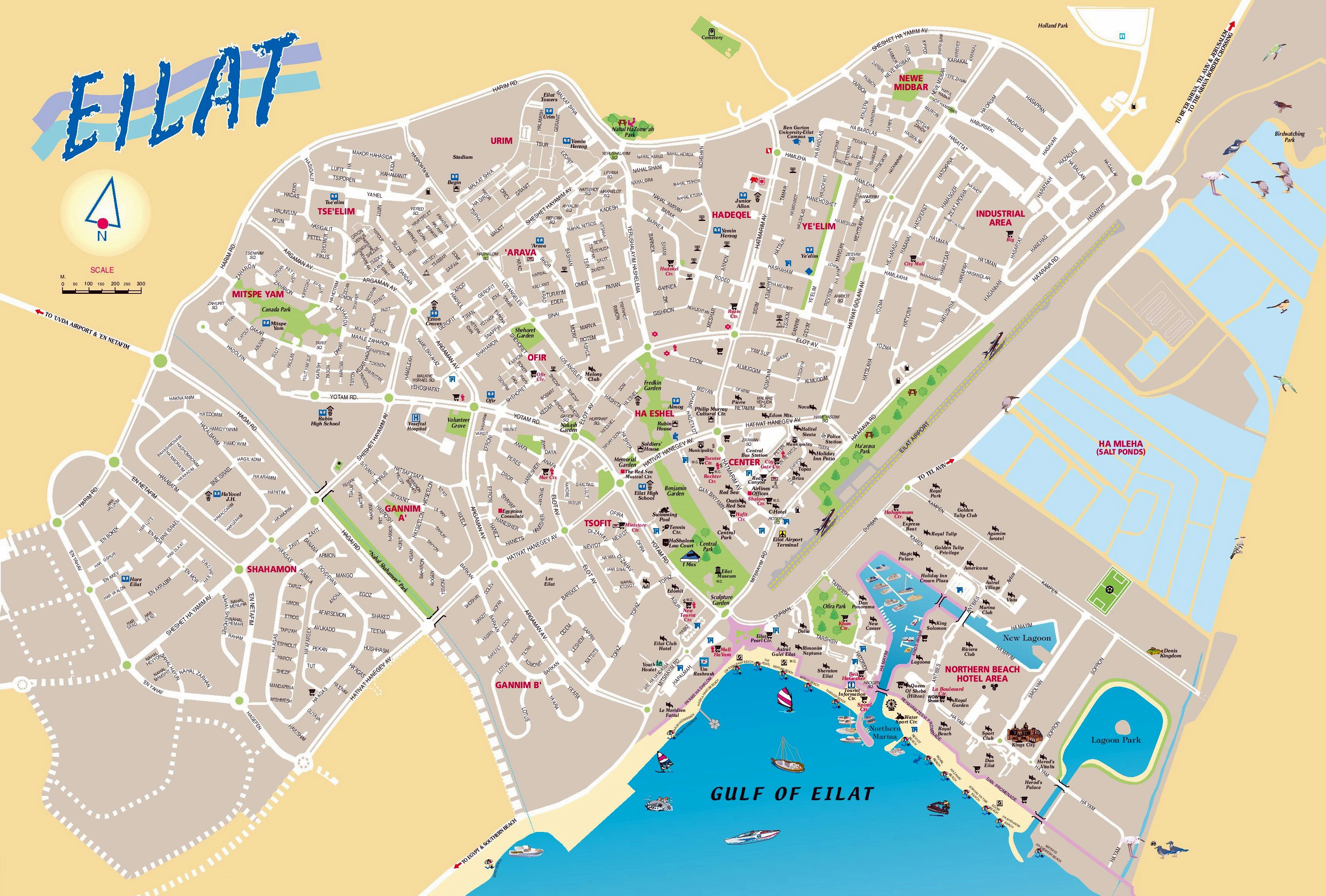 Large Eilat Maps for Free Download and Print HighResolution and