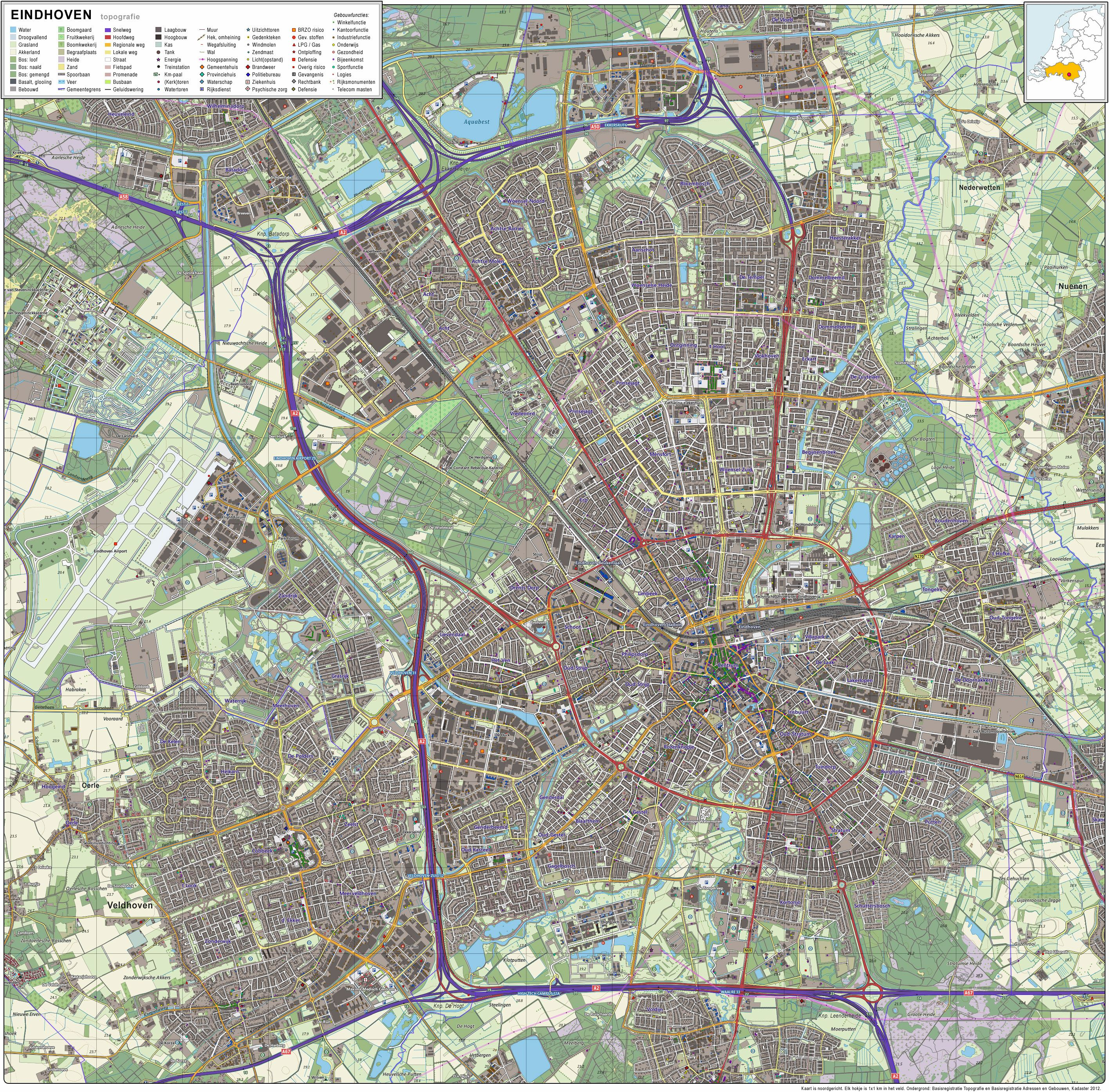 Large Eindhoven Maps for Free Download and Print | High ...