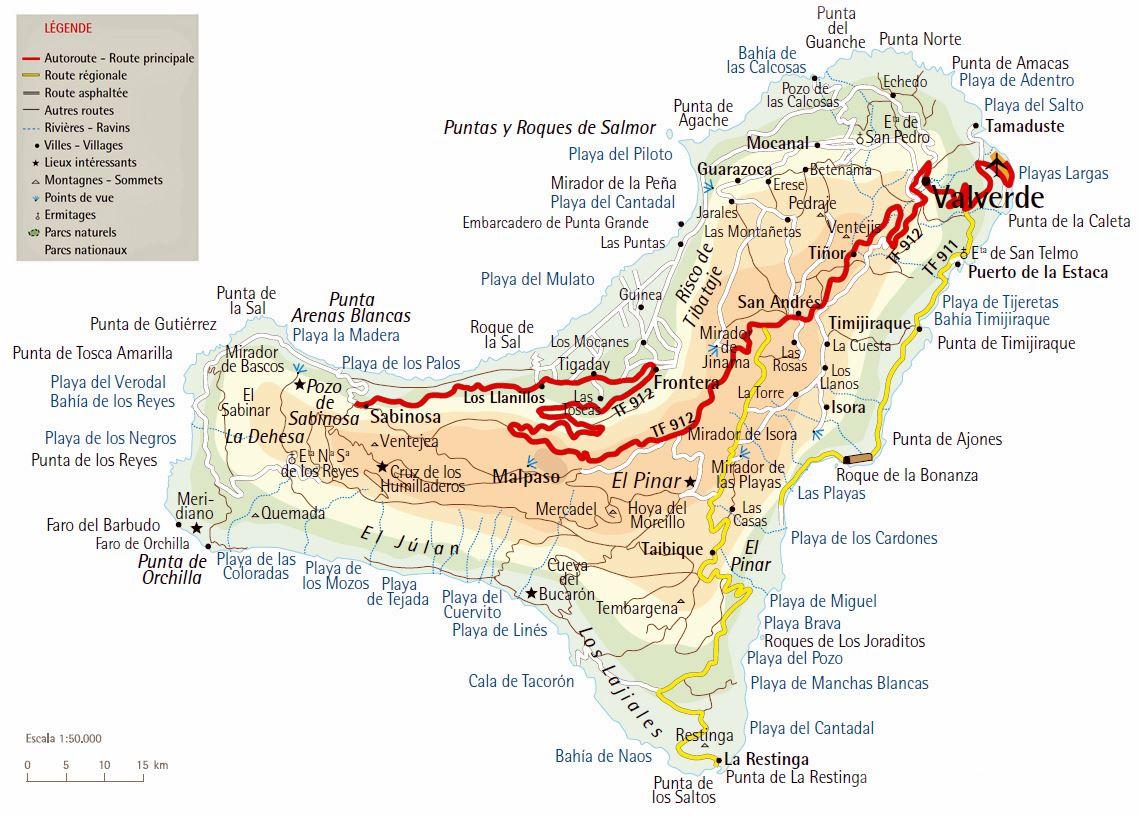 Mapa De El Hierro.Mapas Detallados De El Hierro Para Descargar Gratis E Imprimir