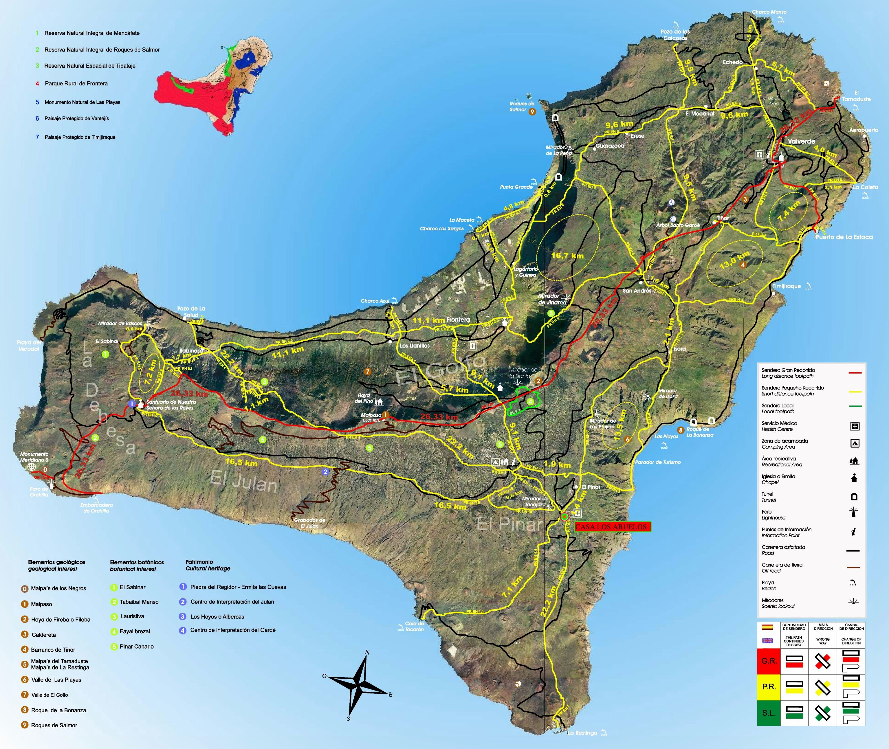 Large El Hierro Island Maps for Free Download and Print High