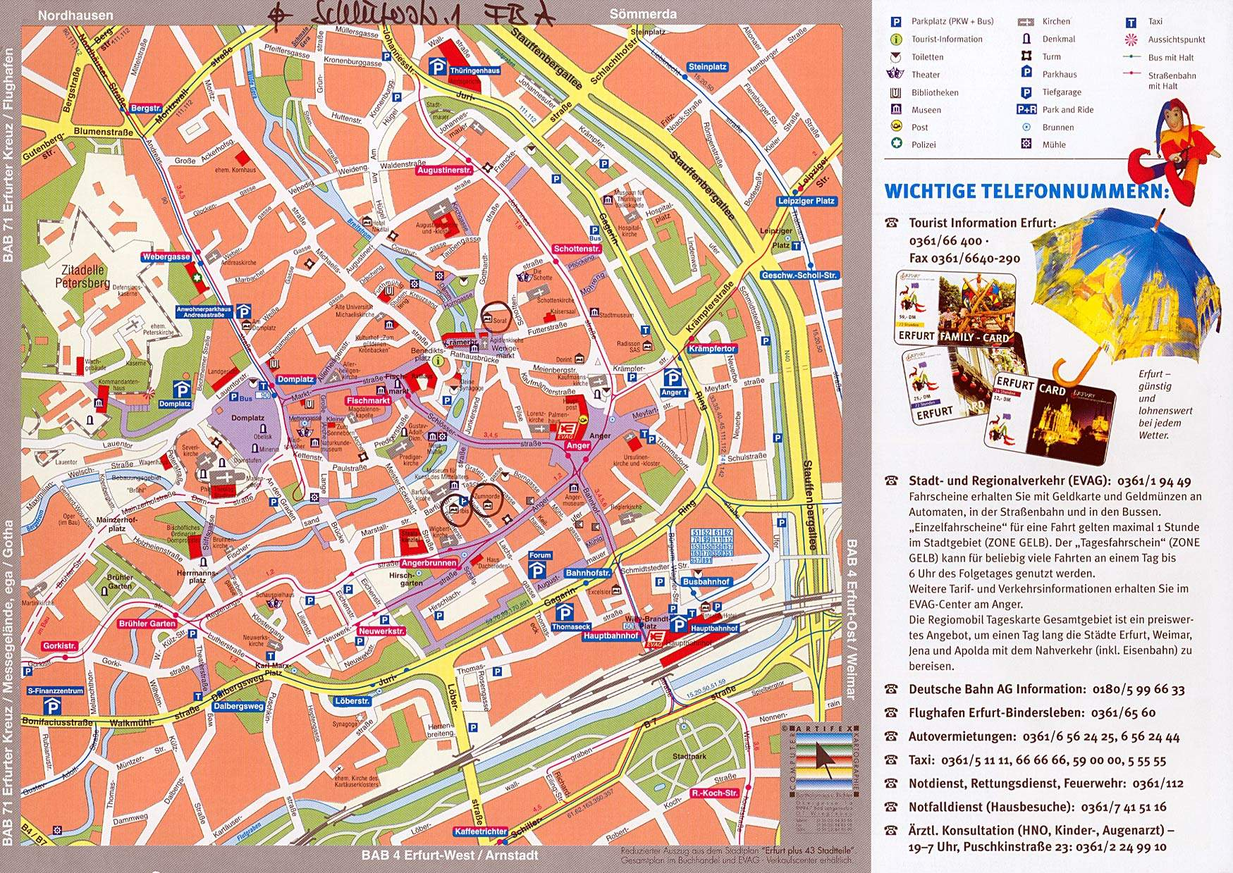 Erfurt Tram Map for Free Download Map of Erfurt Tramway Network