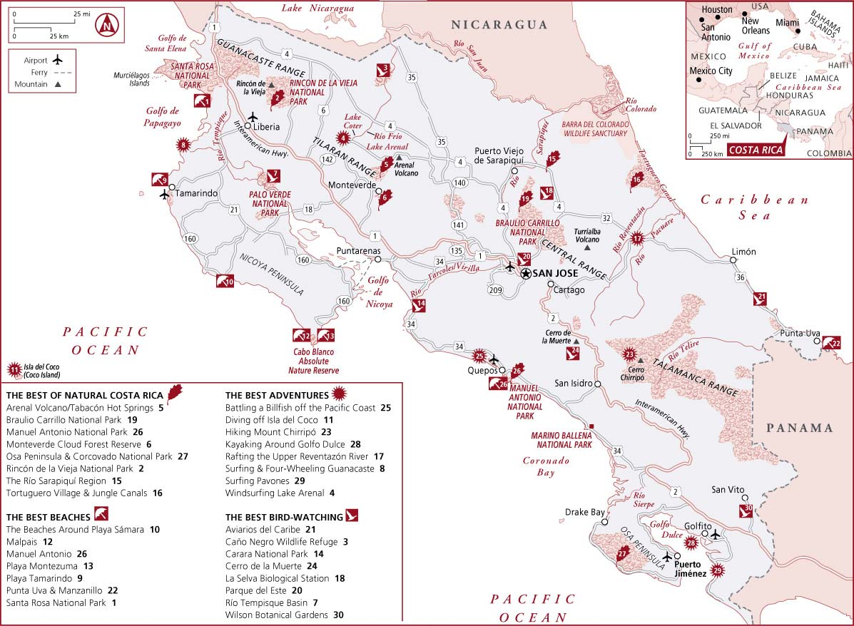 Costa Rica Karte Sehenswurdigkeiten.Stadtplan Von Escazu Detaillierte Gedruckte Karten Von