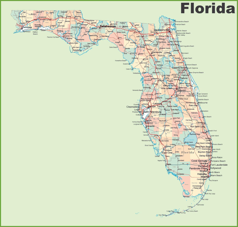 Mapas Detallados De Florida Para Descargar Gratis E Imprimir