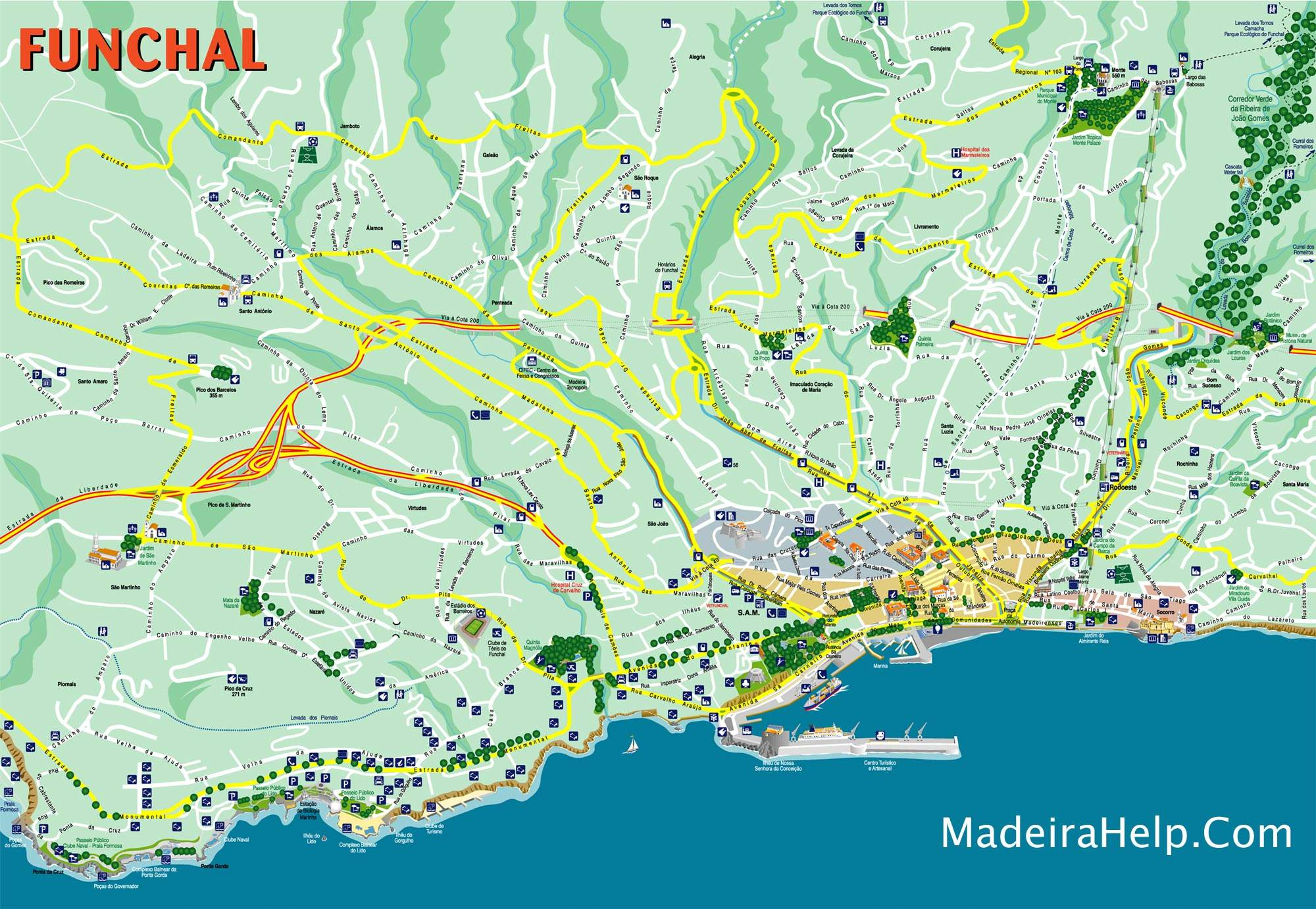 Large Funchal Maps For Free Download And Print High