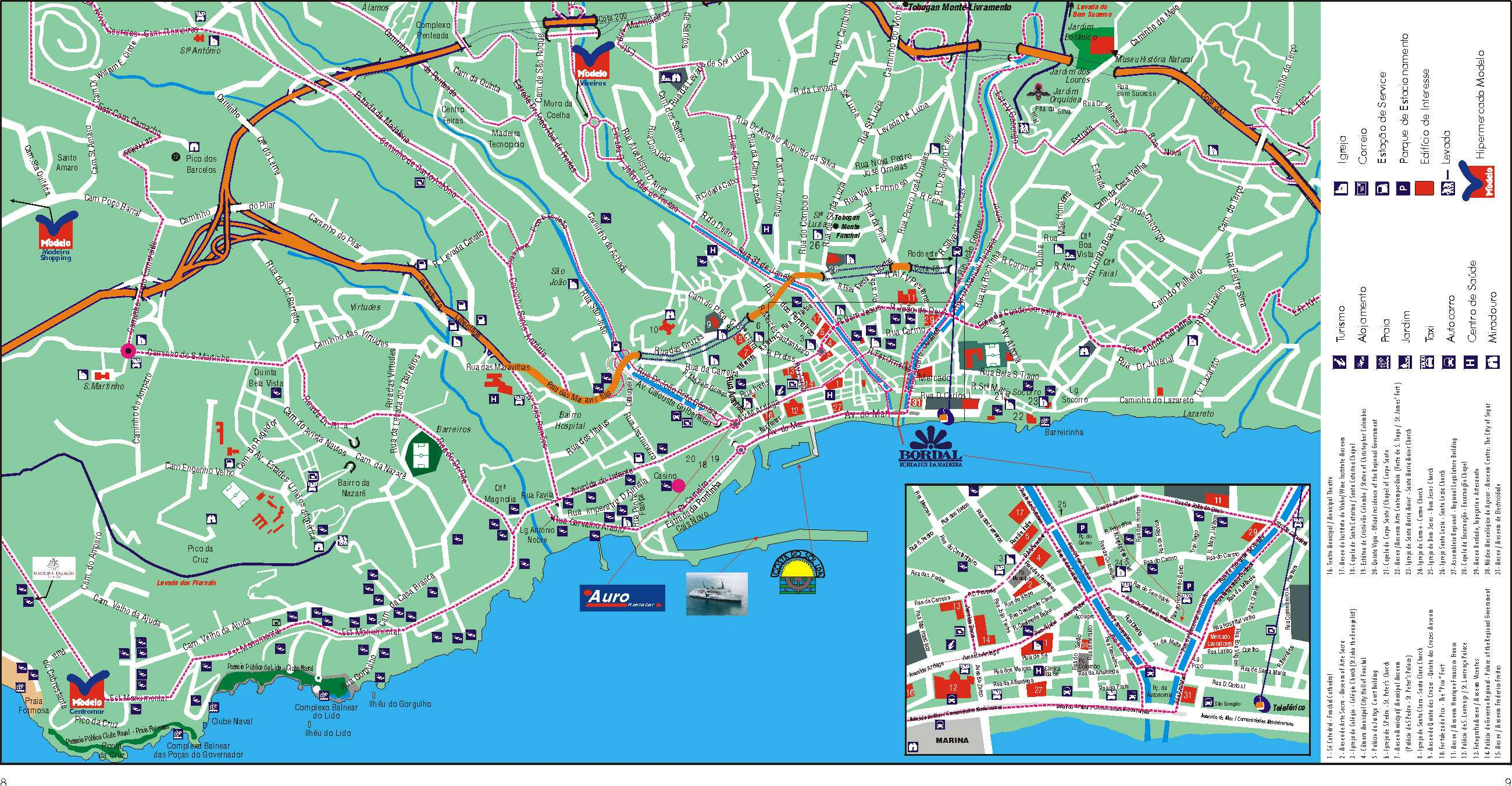 Large Funchal Maps for Free Download and Print HighResolution and