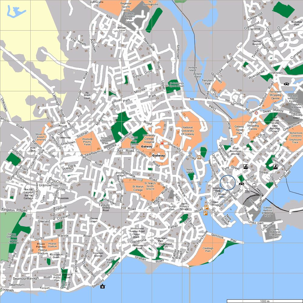 Large Galway Maps for Free Download and Print HighResolution and