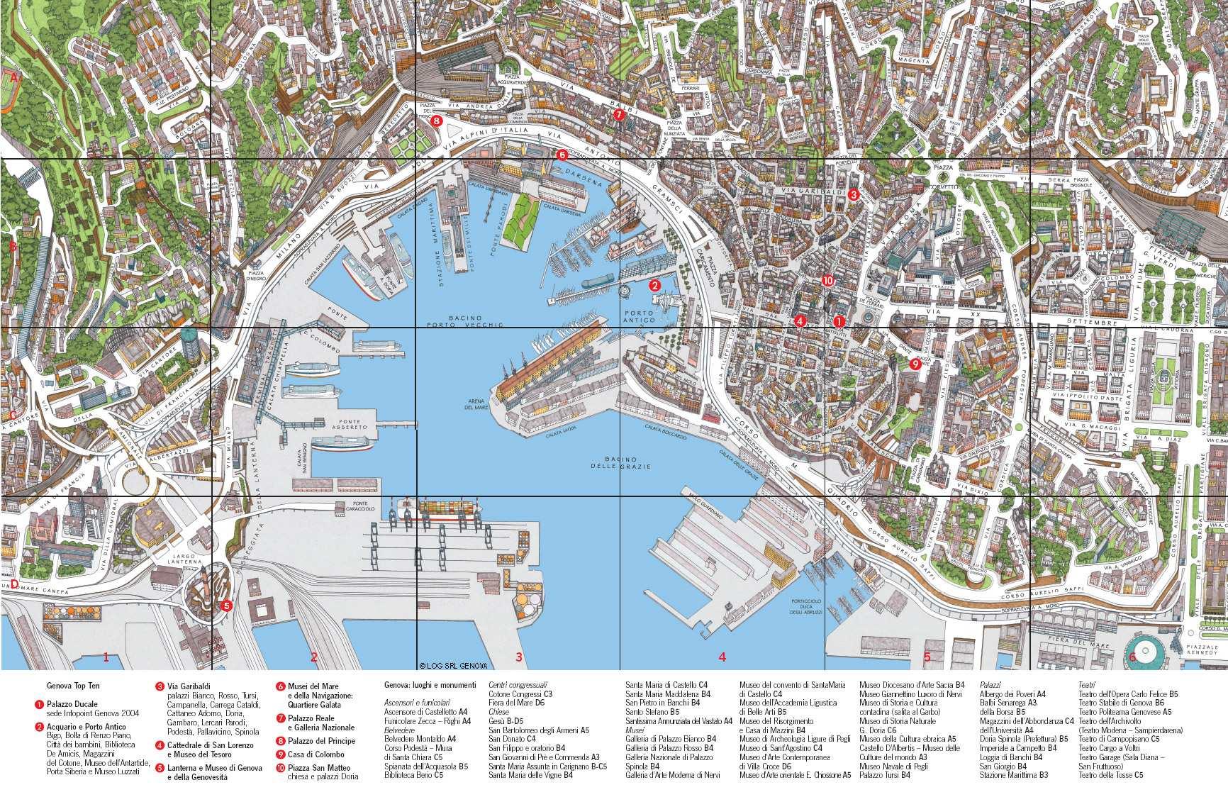 genova mapa Large Genoa Maps for Free Download and Print | High Resolution and  genova mapa