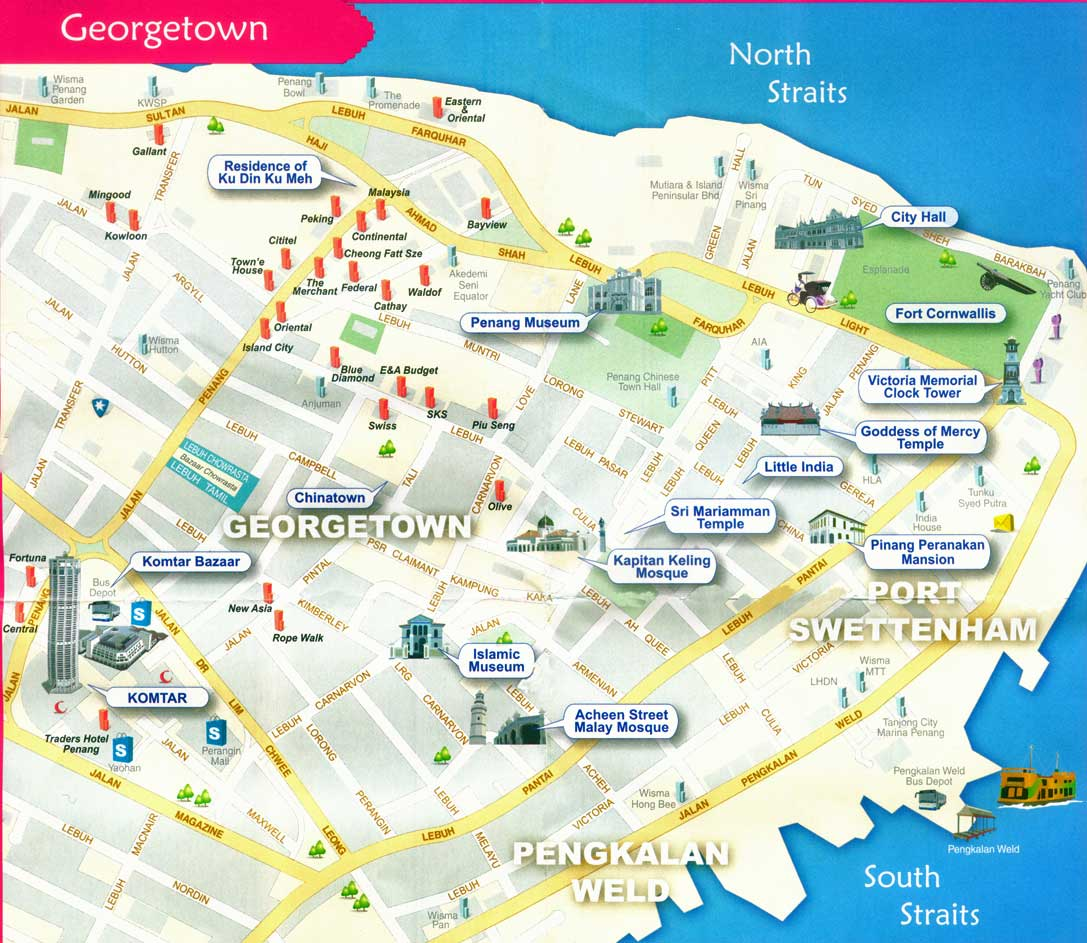 Large Georgetown Maps for Free Download and Print HighResolution