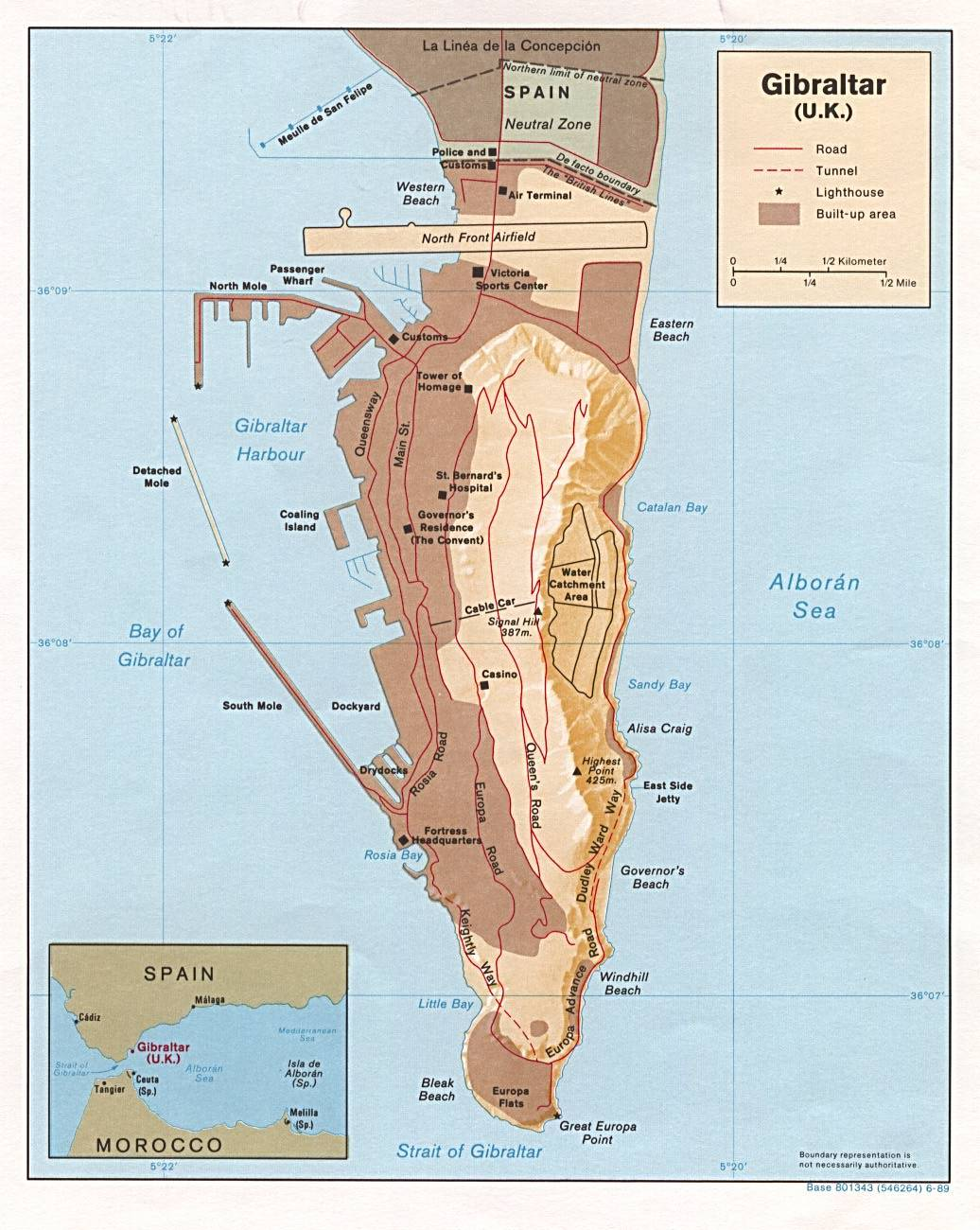 Large Gibraltar Maps for Free Download and Print HighResolution
