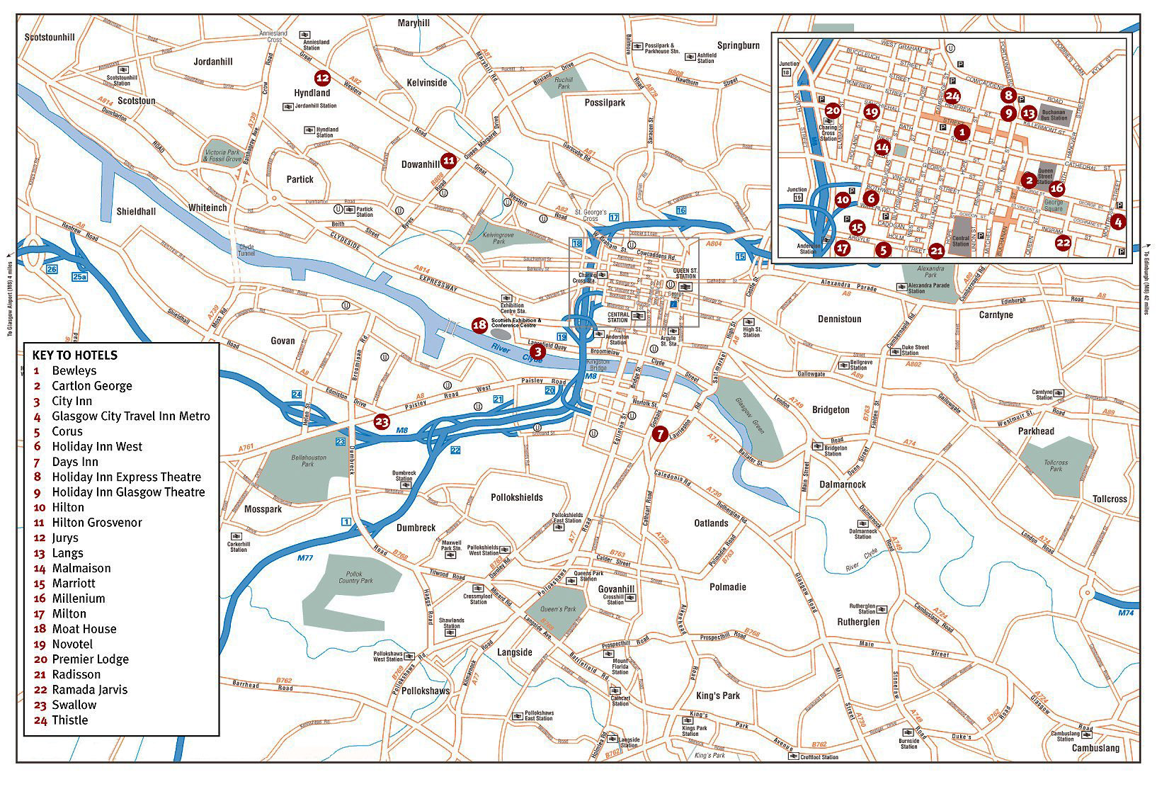 Map Of Glasgow Large Glasgow Maps for Free Download and Print | High Resolution  Map Of Glasgow