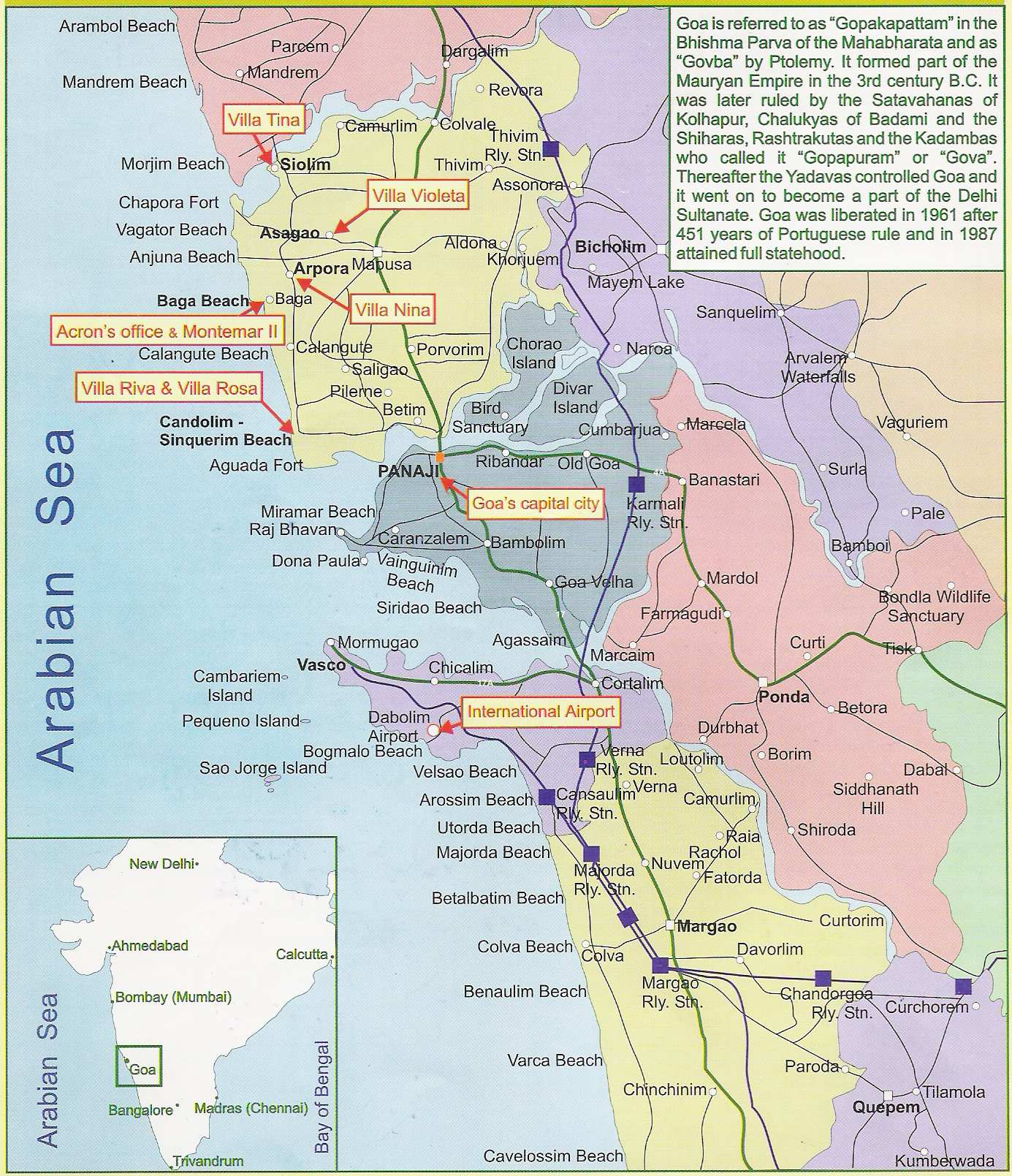 Goa City Map Large Goa Maps for Free Download and Print | High Resolution and