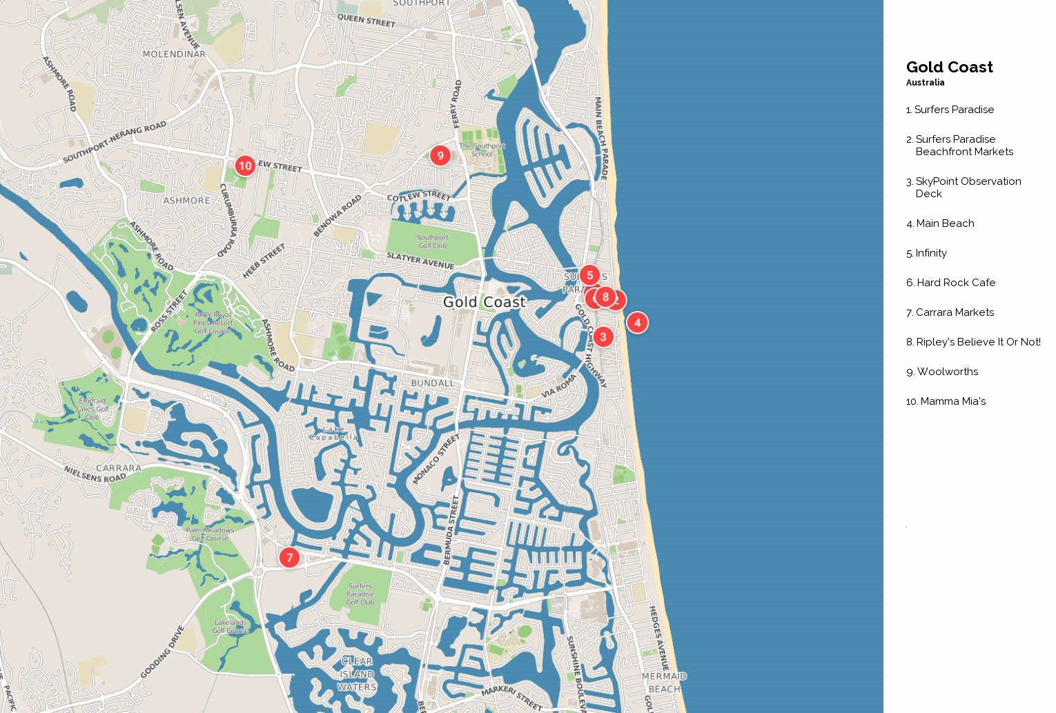Australia Map Gold Coast.Large Gold Coast Maps For Free Download And Print High Resolution