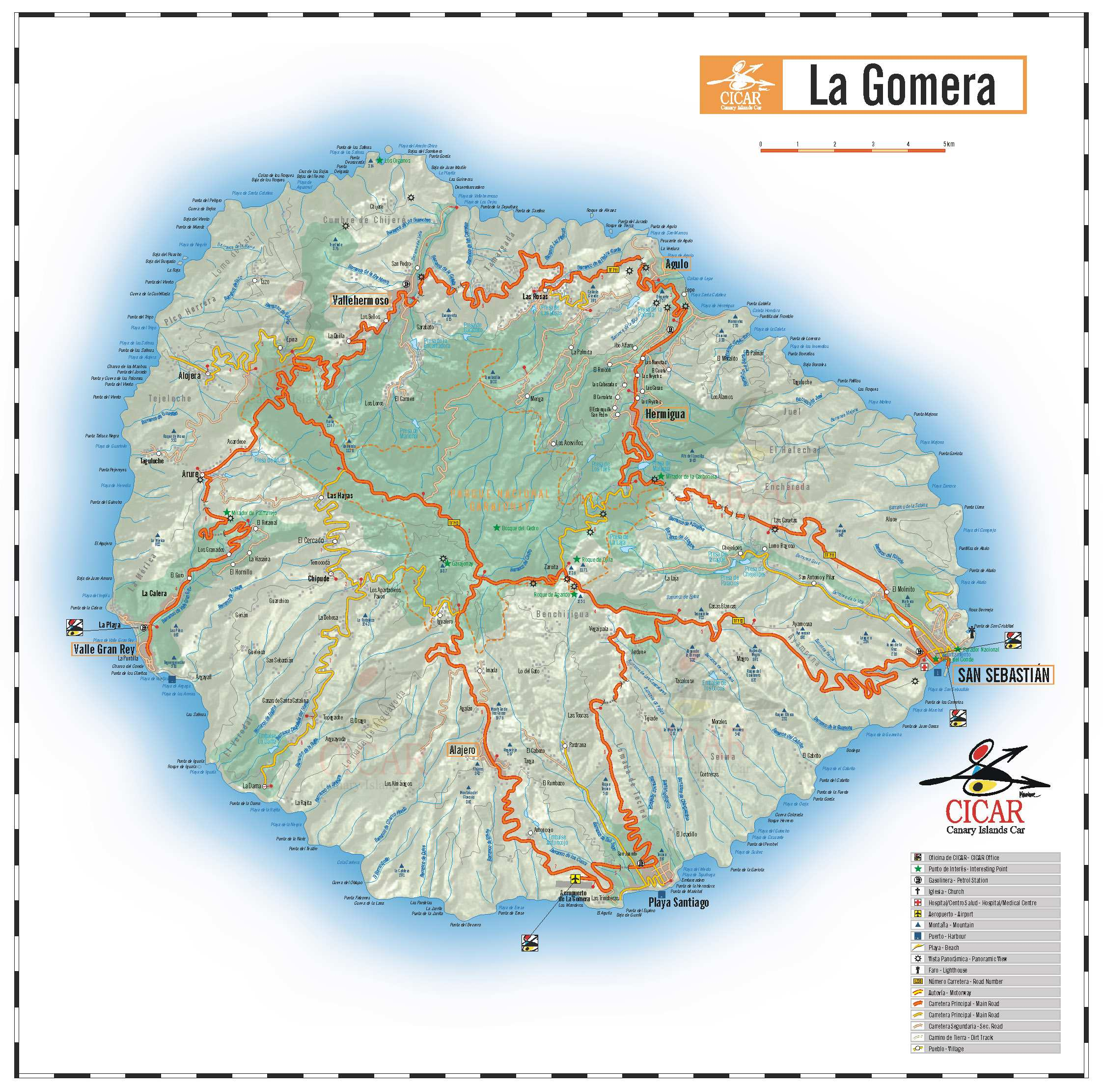 la gomera karte Large La Gomera Maps for Free Download and Print | High Resolution