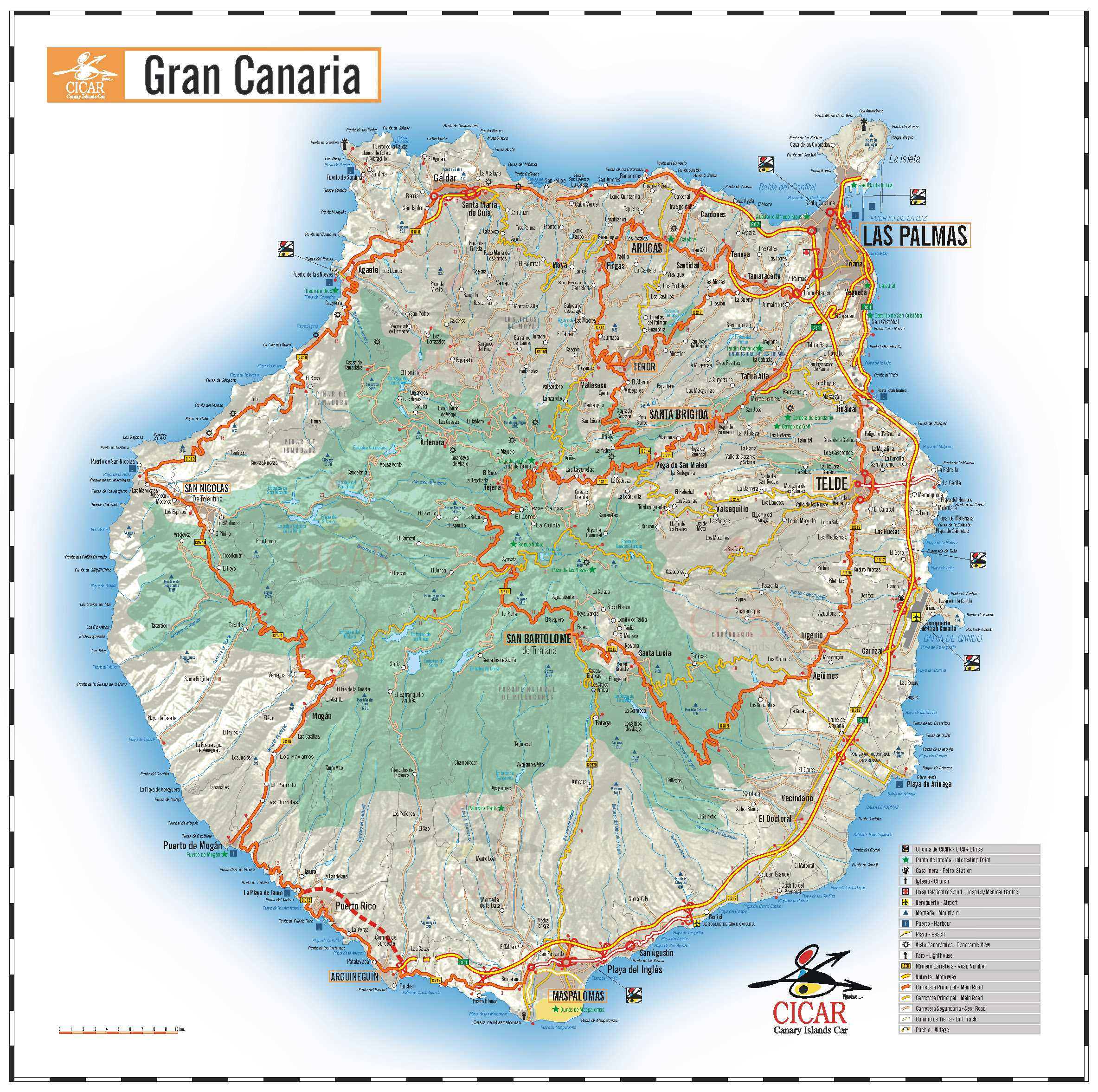 Map Gran Canaria Large Gran Canaria Maps for Free Download and Print | High