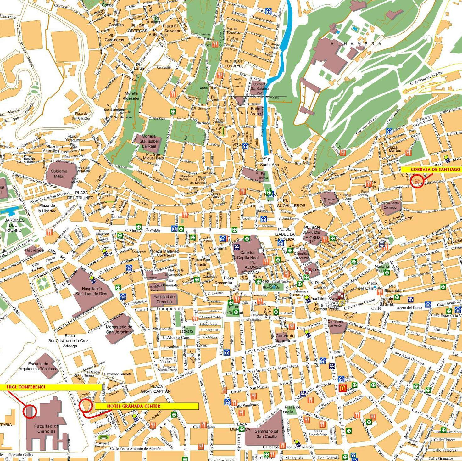 large granada maps for free download and print  highresolution  - large map of granada