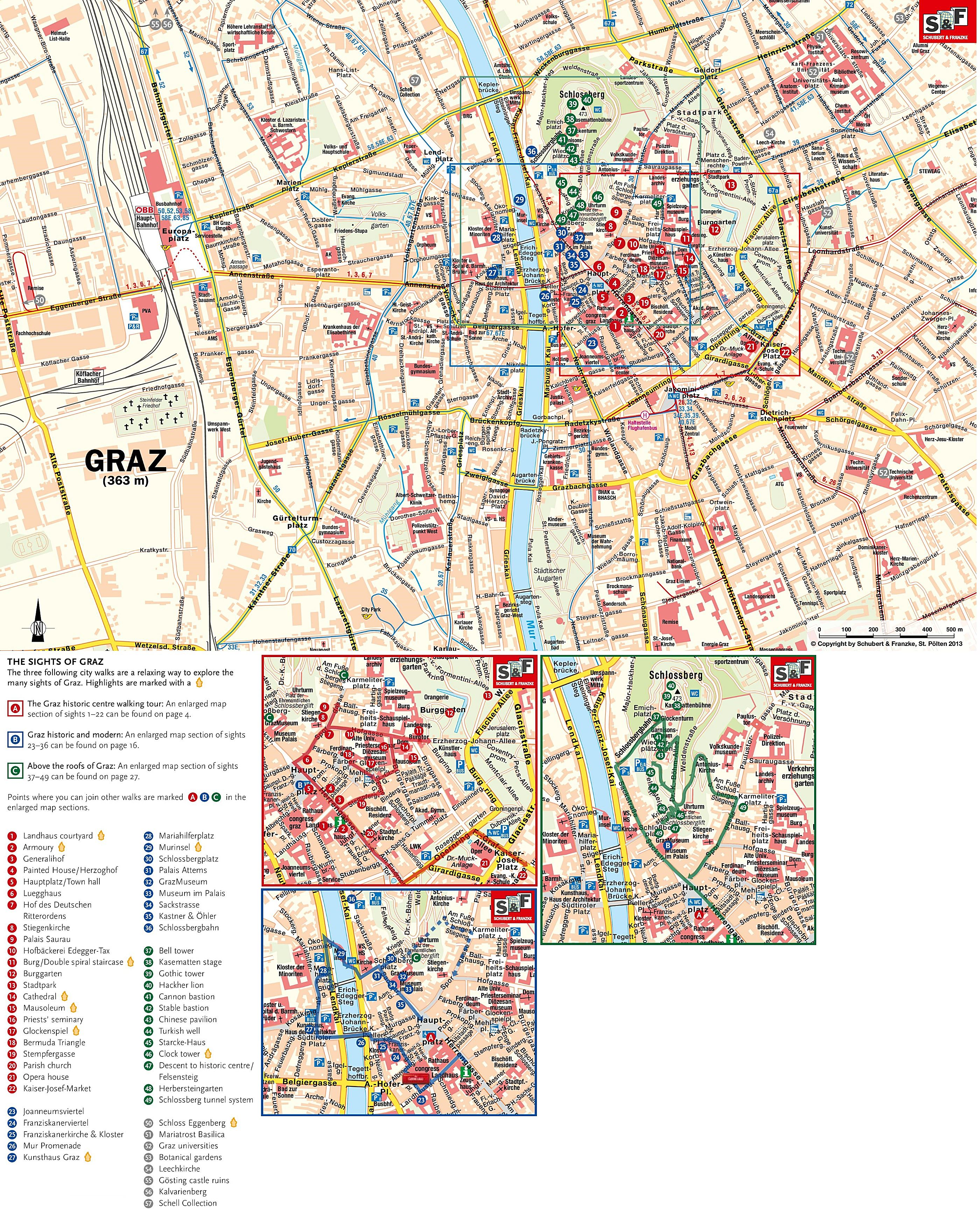 Large Graz Maps for Free Download and Print HighResolution and