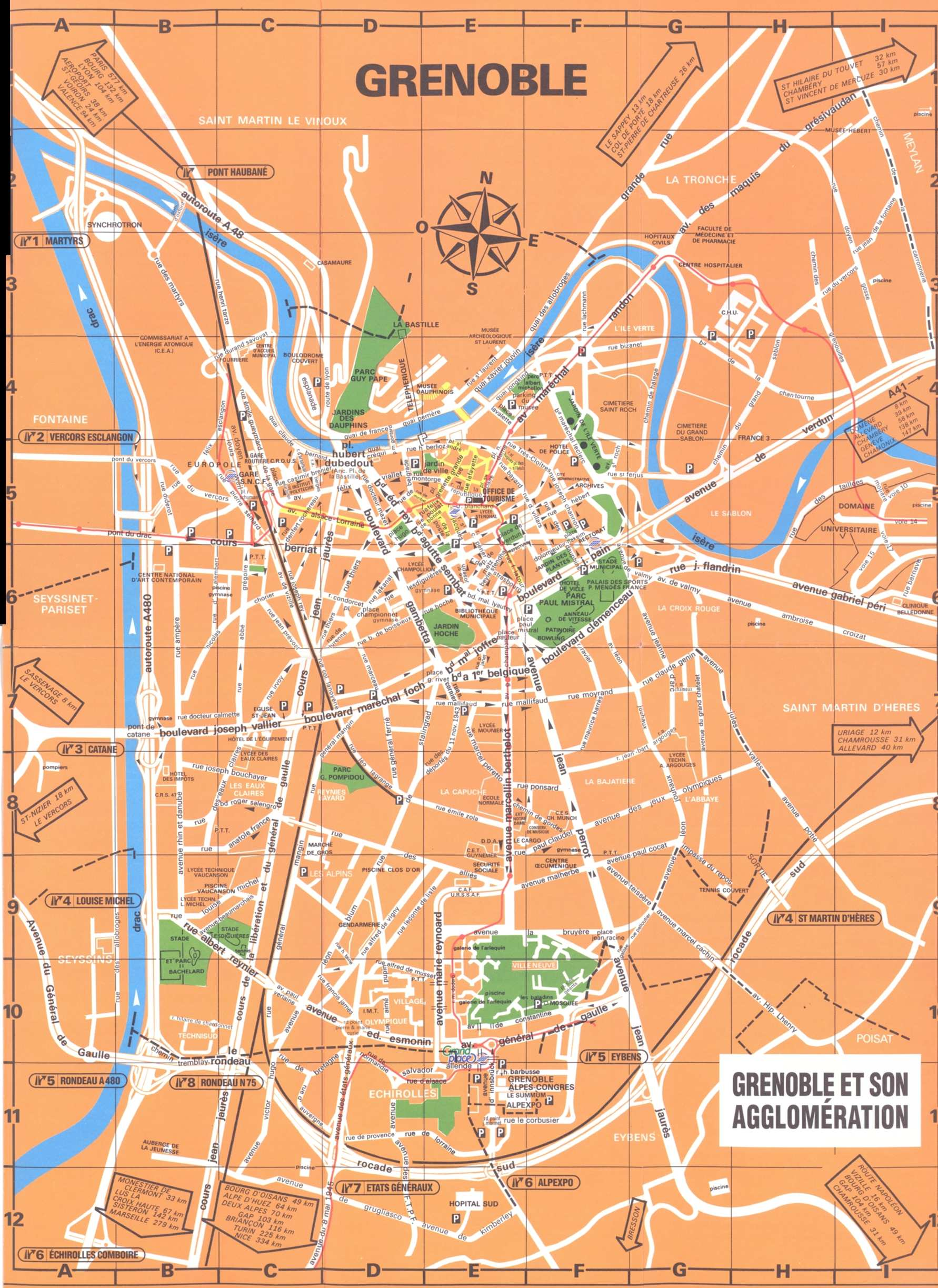 Large Grenoble Maps for Free Download | High-Resolution and ...