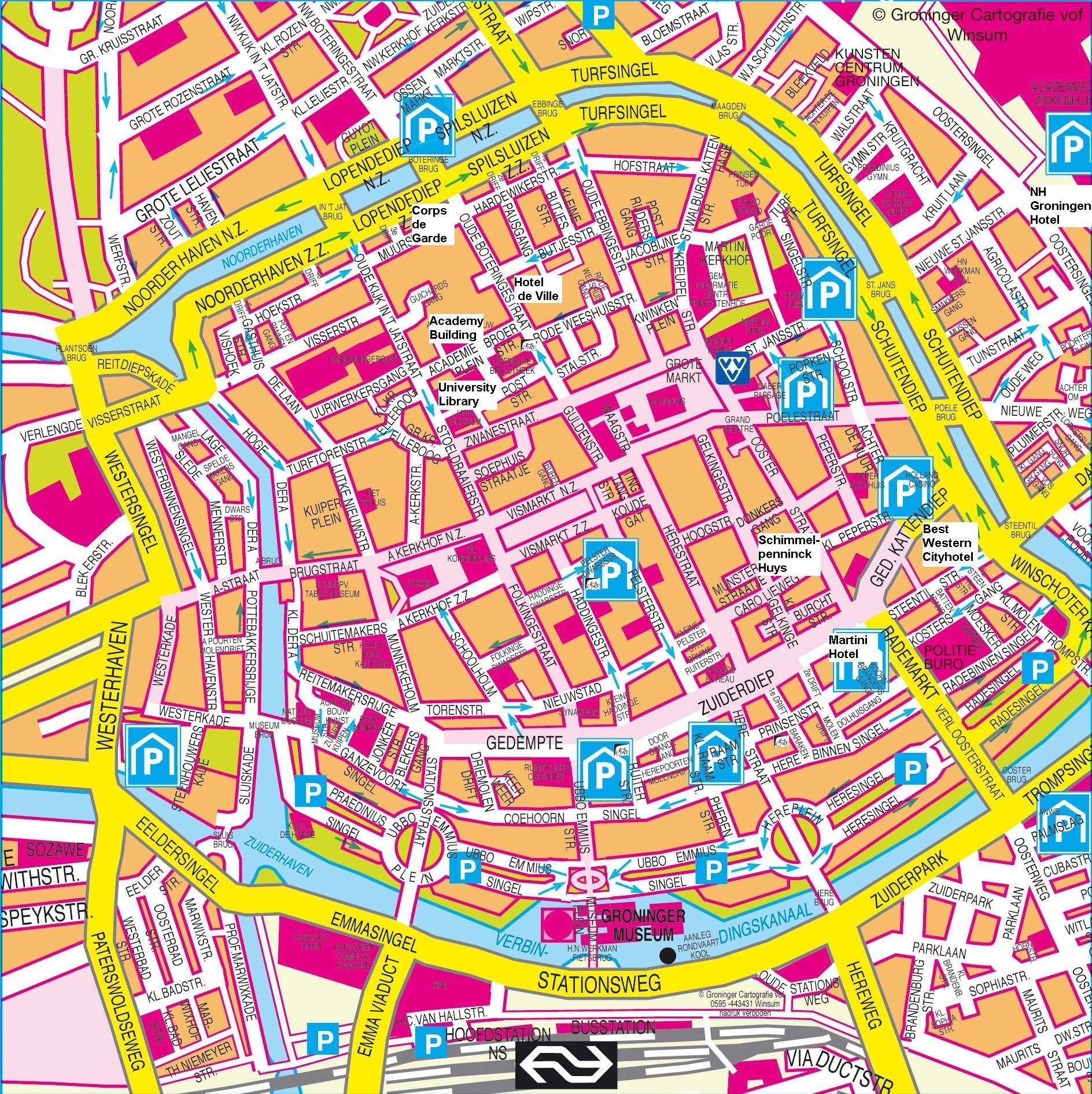 Large Groningen Maps for Free Download and Print HighResolution