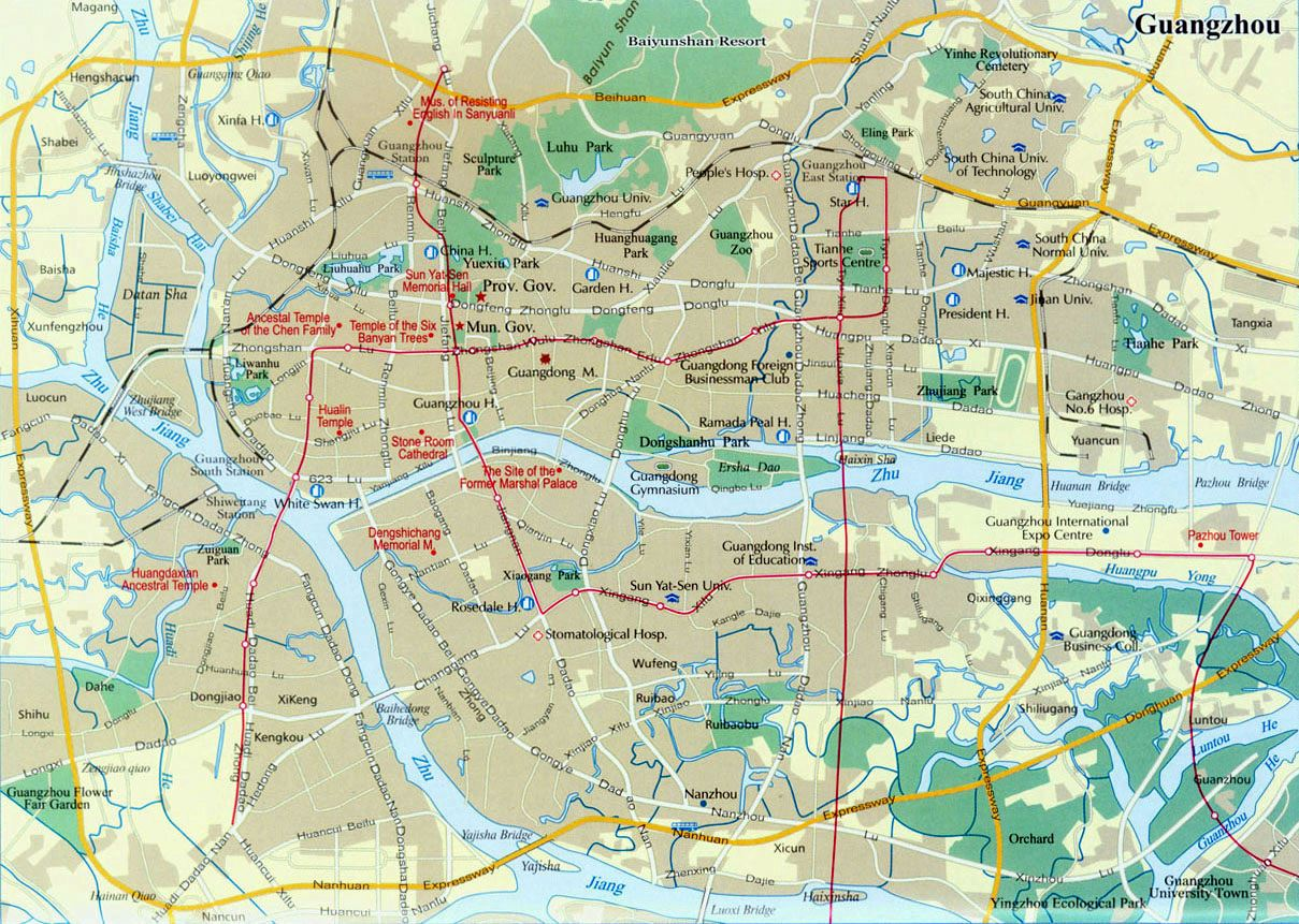 Large Guangzhou Maps for Free Download and Print | High ...