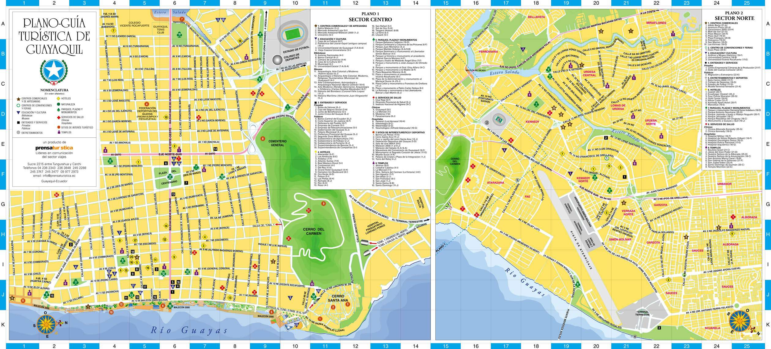 Large Guayaquil Maps for Free Download and Print HighResolution