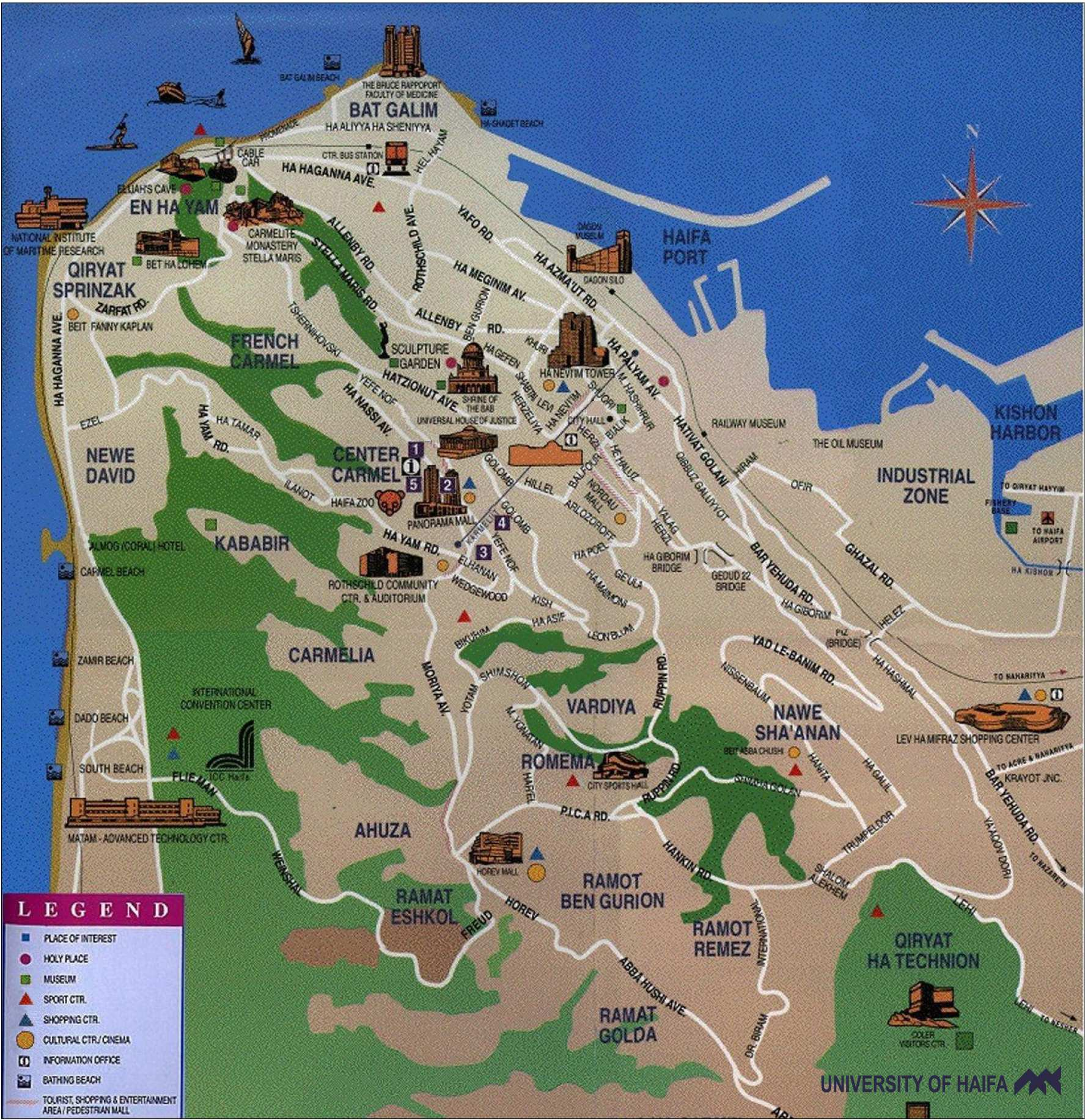 Large Haifa Maps for Free Download and Print HighResolution and
