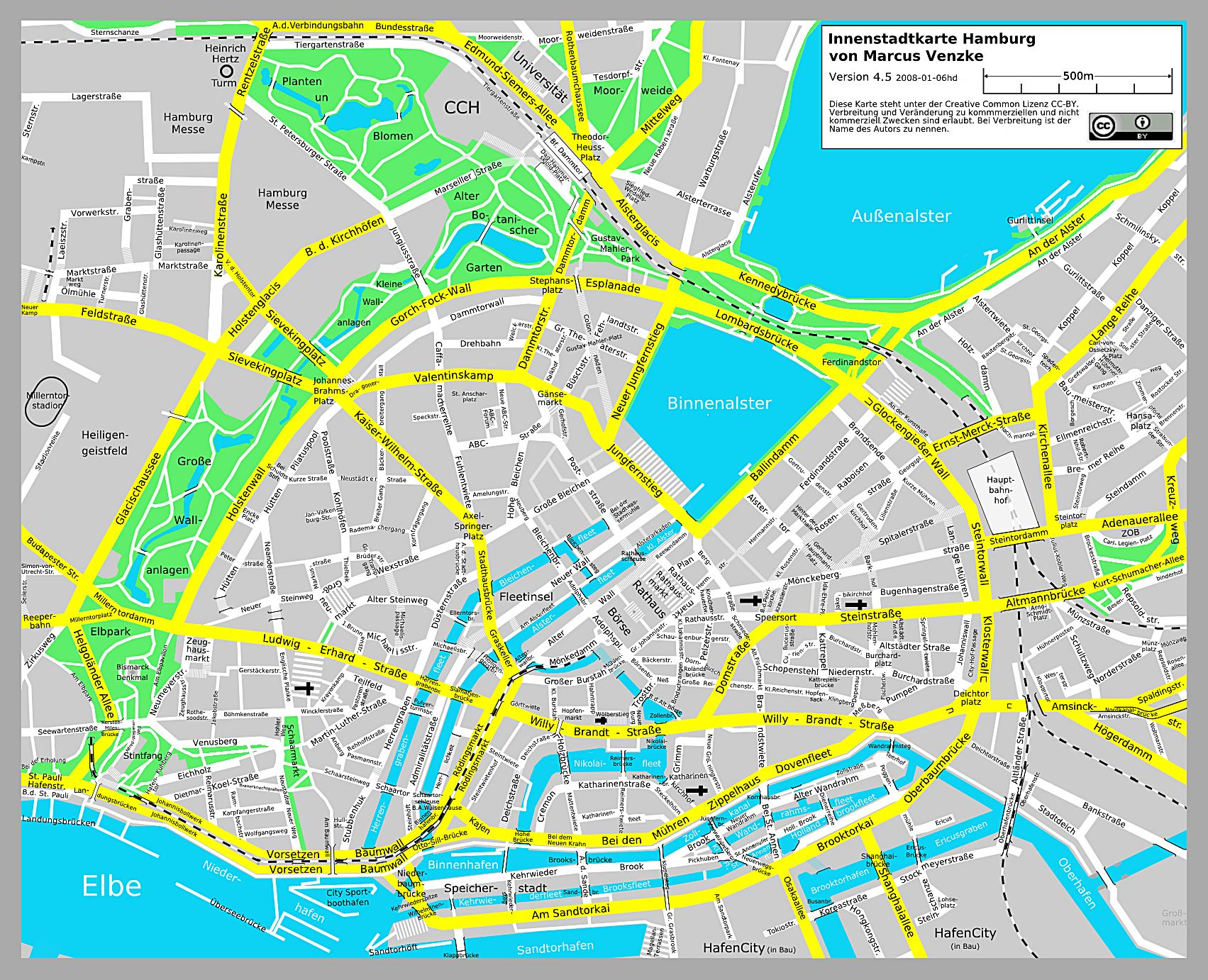 Large Hamburg Maps for Free Download and Print HighResolution and