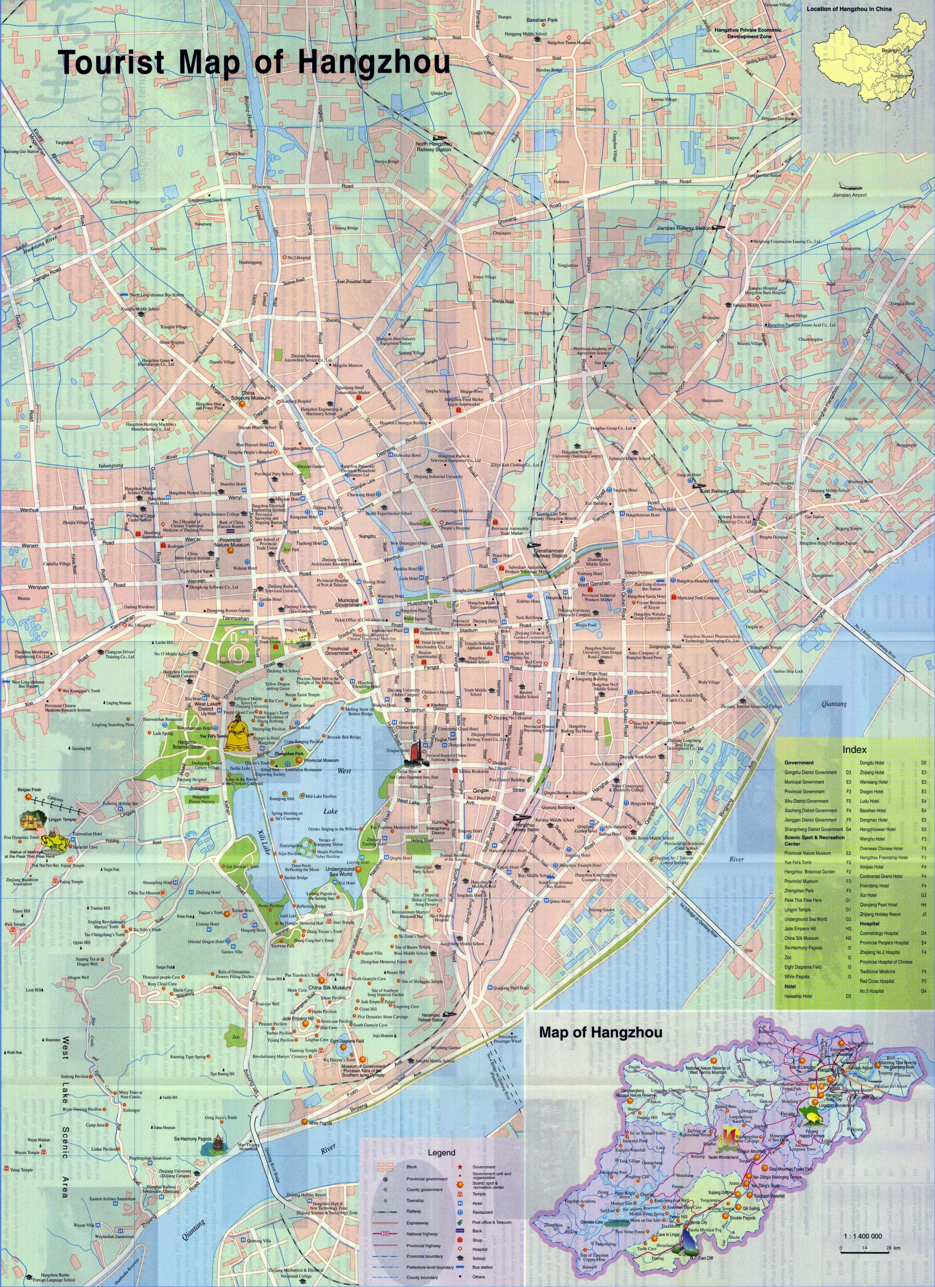Large Hangzhou Maps for Free Download and Print HighResolution