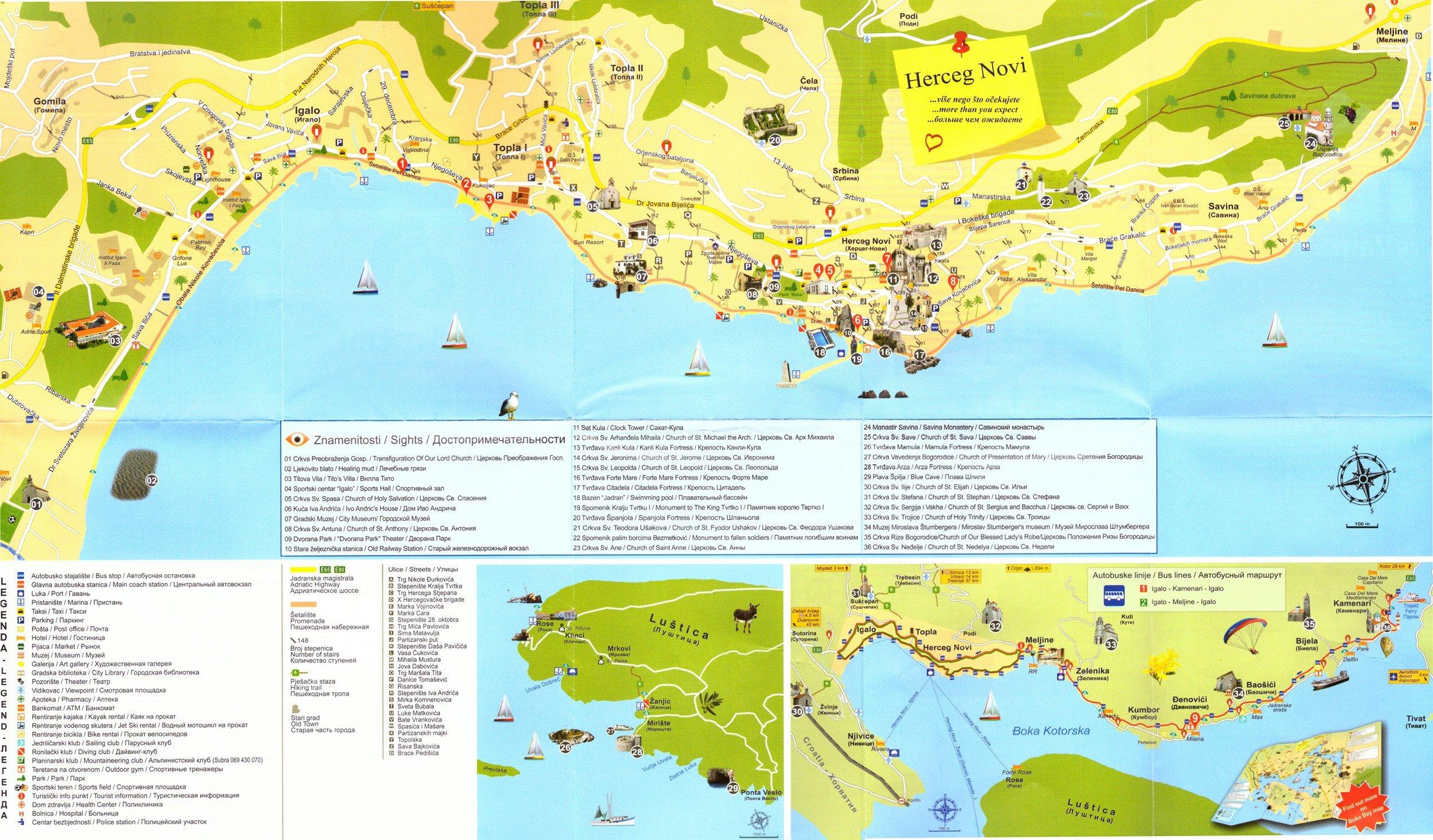 Large Herceg Novi Maps for Free Download and Print   High