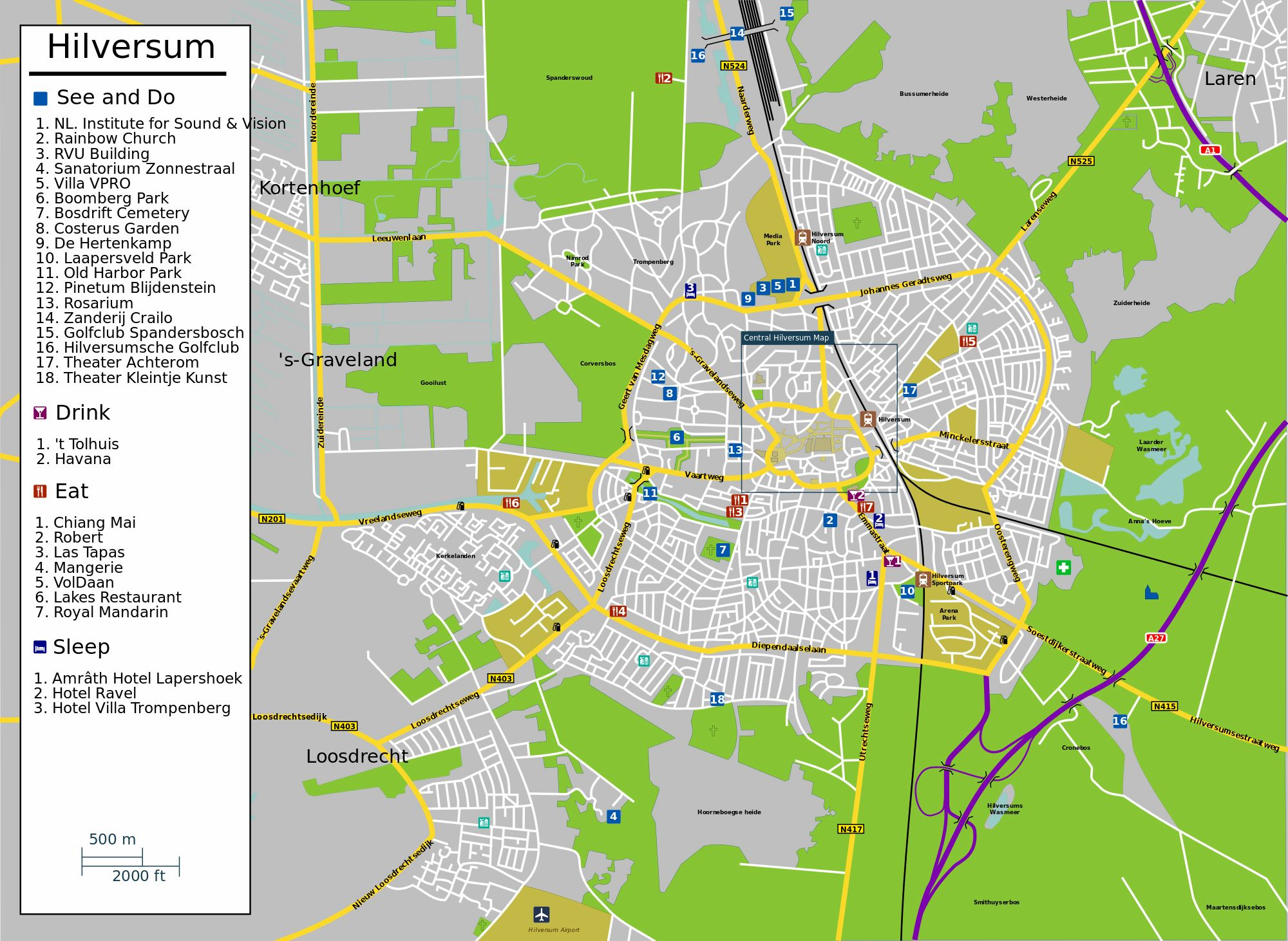 Large Hilversum Maps for Free Download and Print HighResolution
