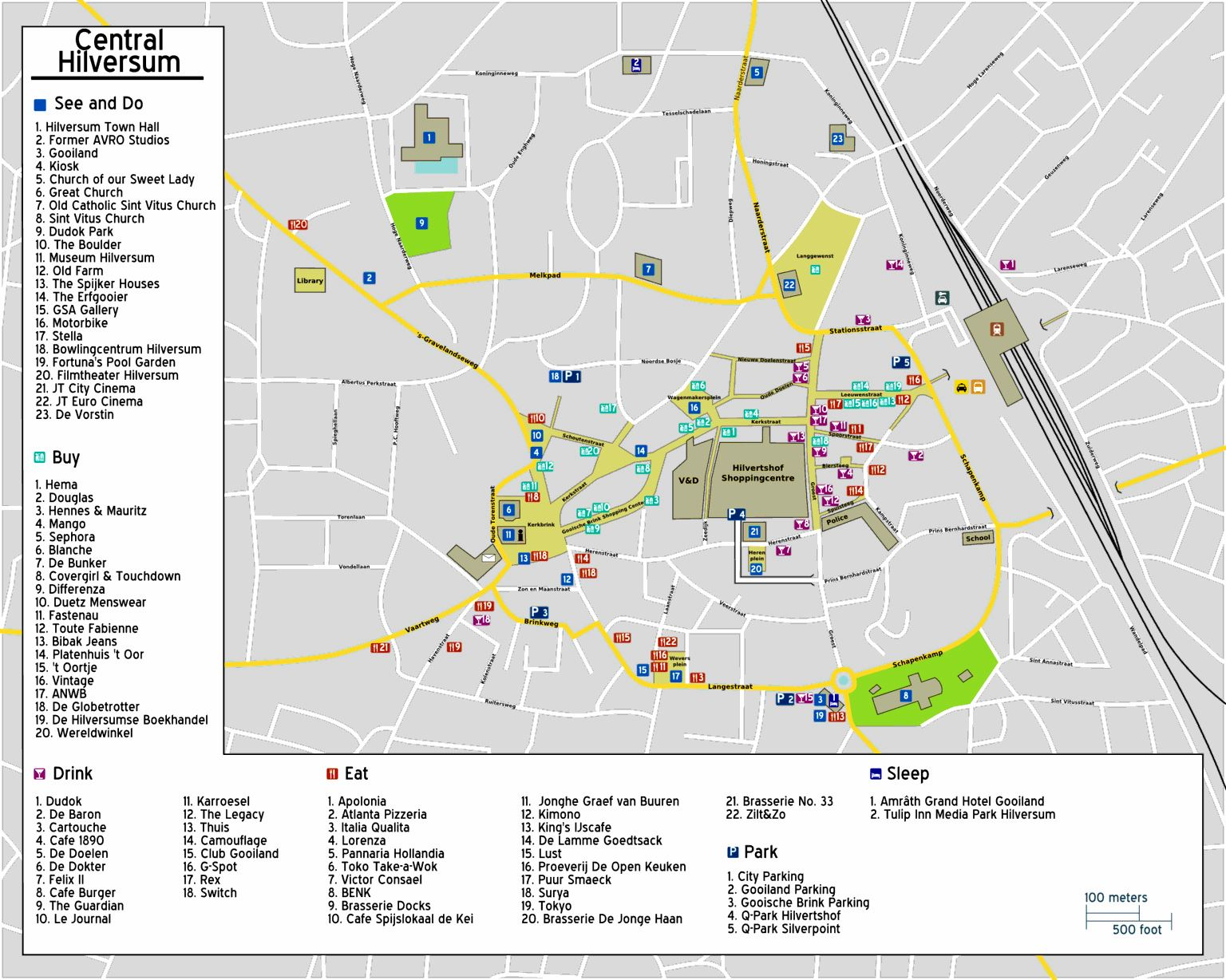 Large Hilversum Maps for Free Download and Print | High ...