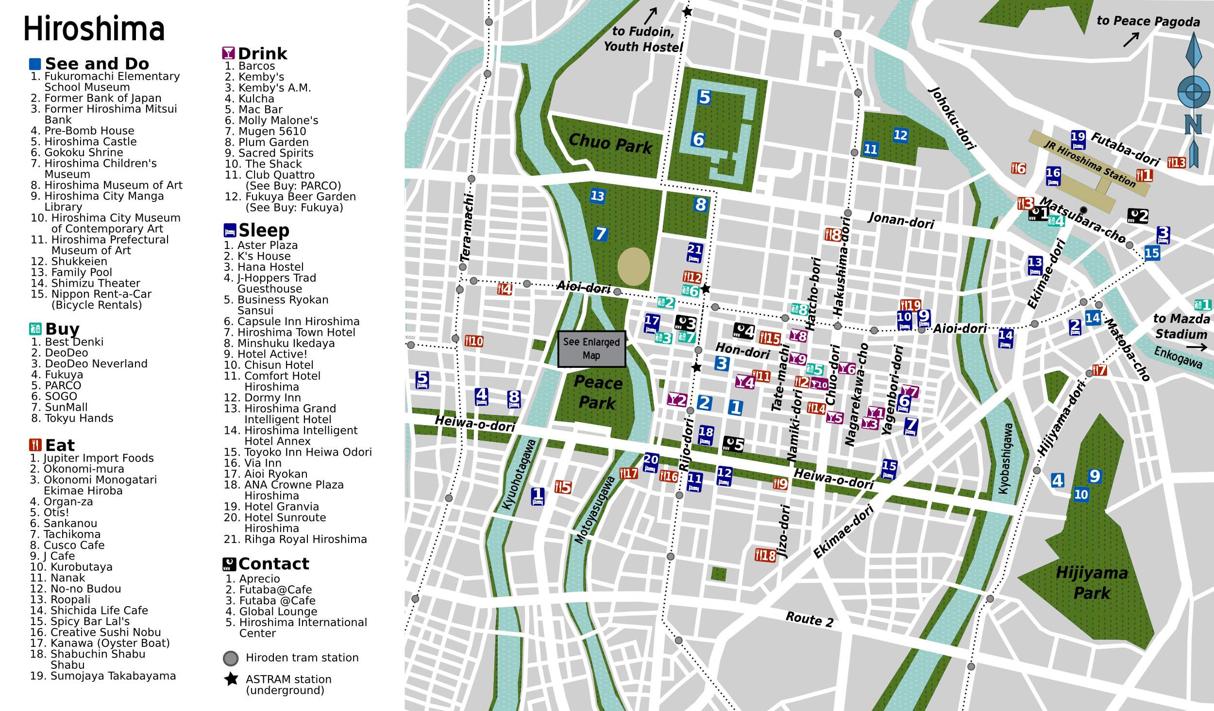 Map of Hiroshima